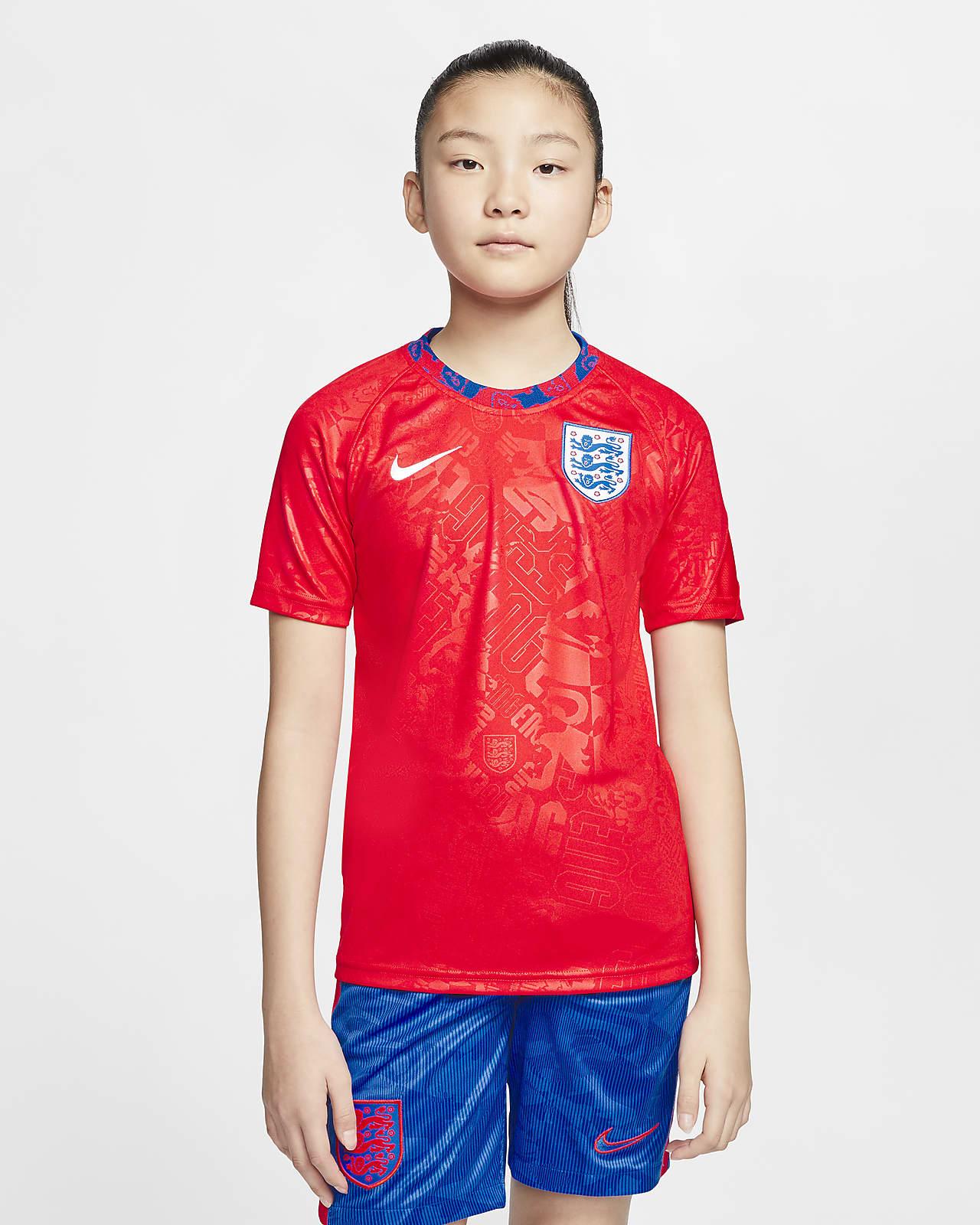 England Older Kids' Short-Sleeve Football Top