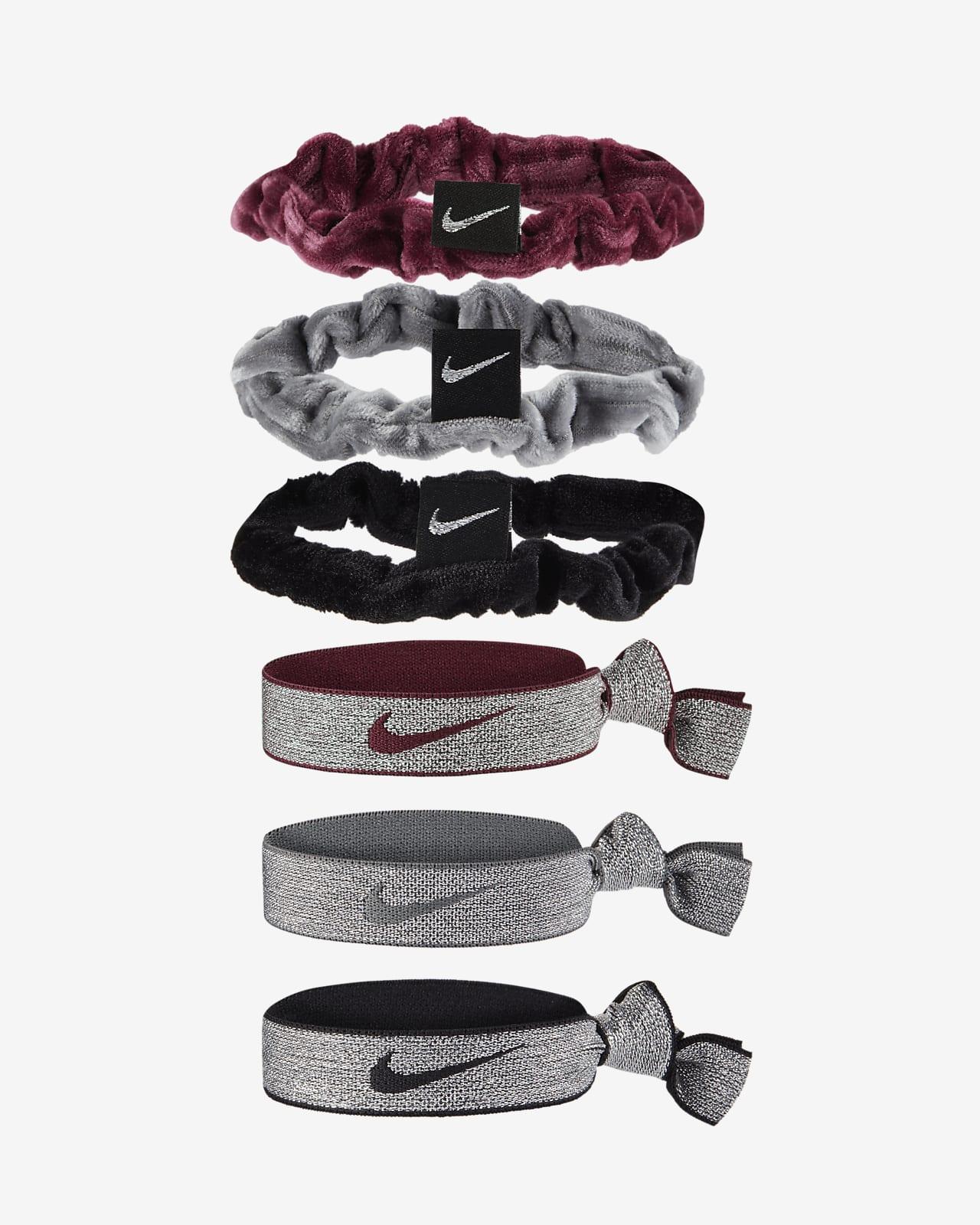 Nike Cintas para el pelo elásticas y de terciopelo (paquete de 6)