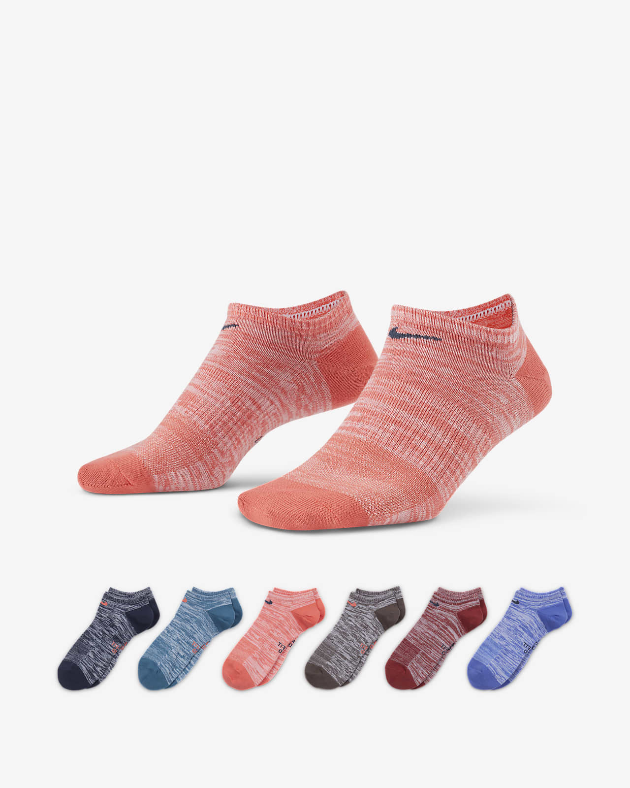 Calcetines de entrenamiento para mujer Nike Everyday Lightweight No-Show (6 pares)