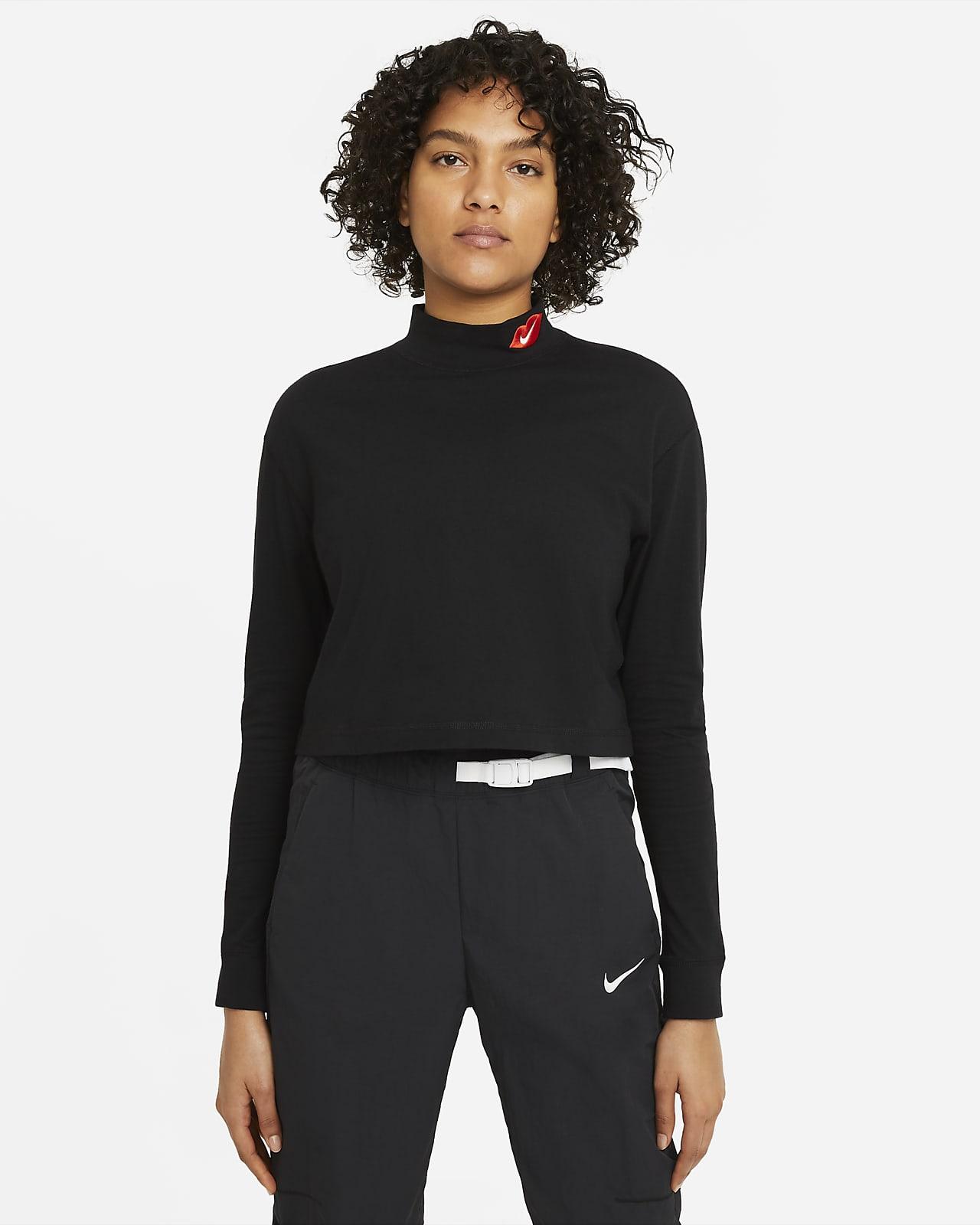 Nike Sportswear Langarm-T-Shirt mit Stehkragen für Damen
