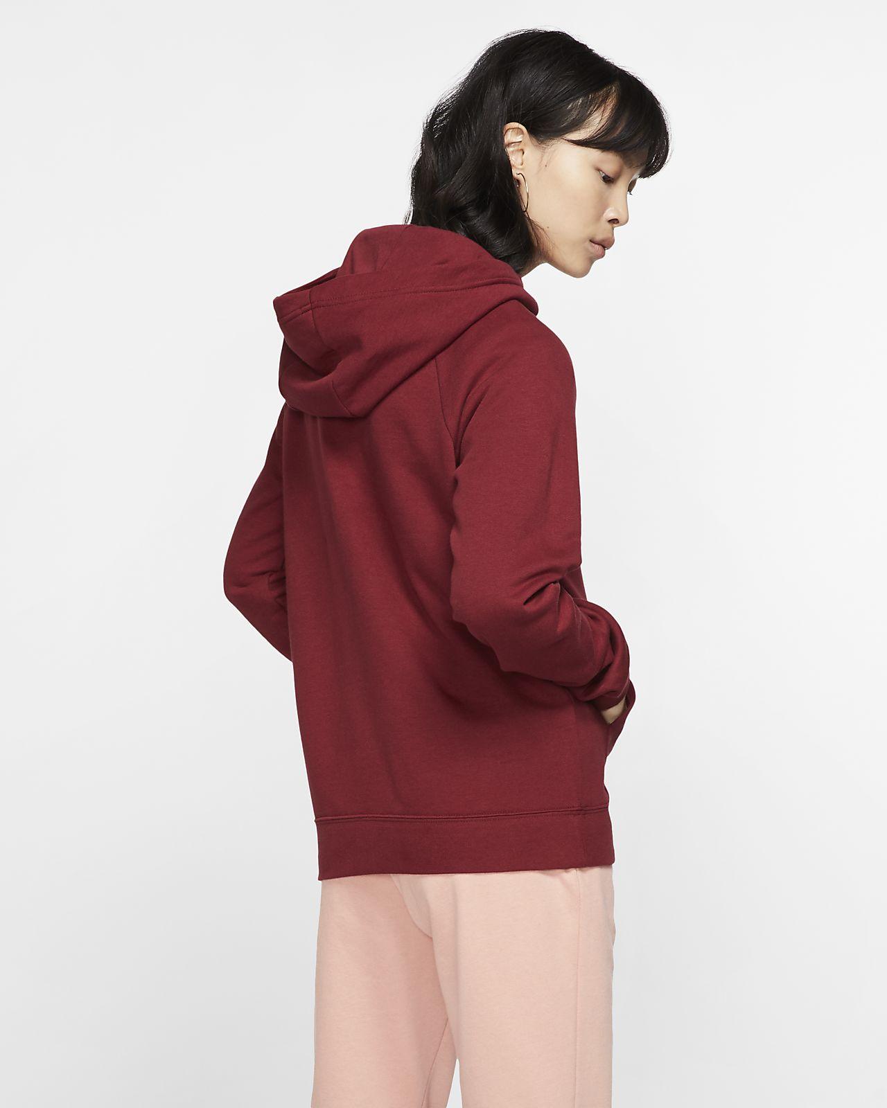 nike fleece funnel neck hoodie
