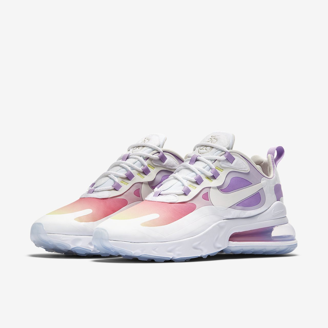 Nike Air Max 270 Flyknit White Blue Multi Color Women's