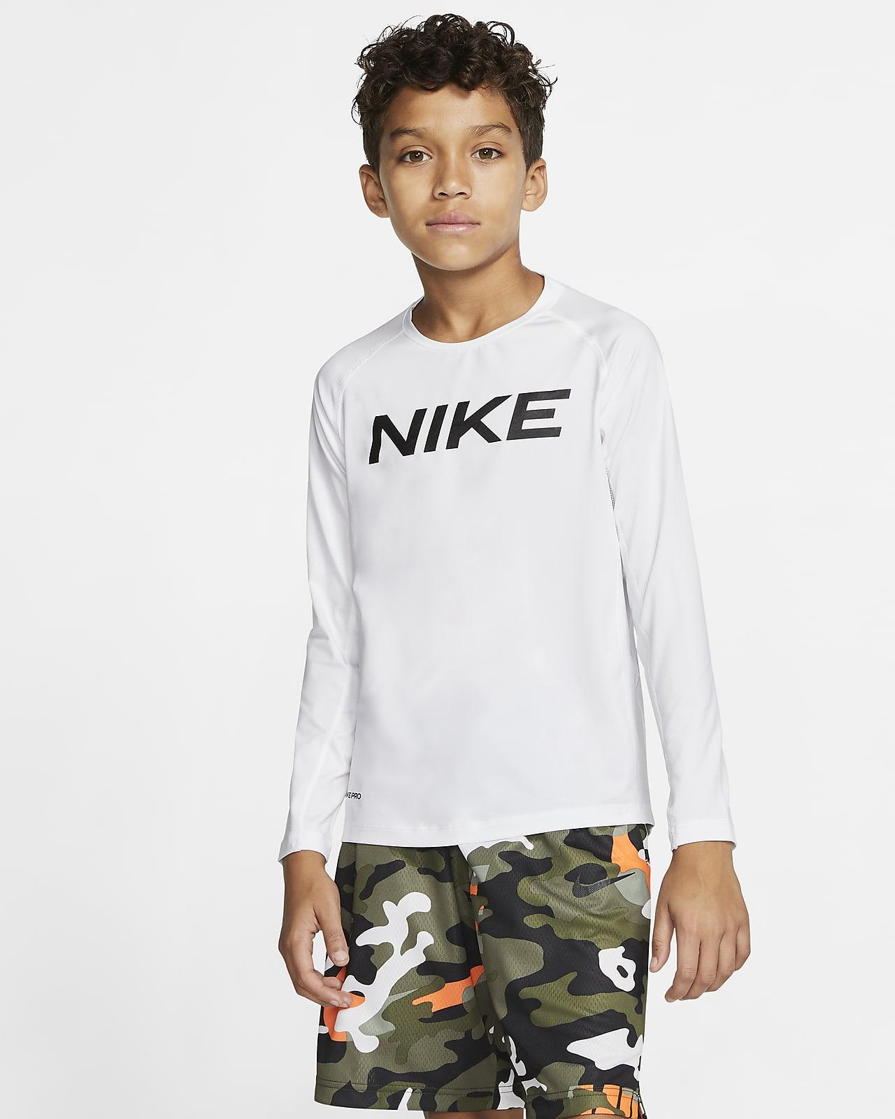 Prenda para la parte superior de entrenamiento de manga larga para niño talla grande Nike Pro