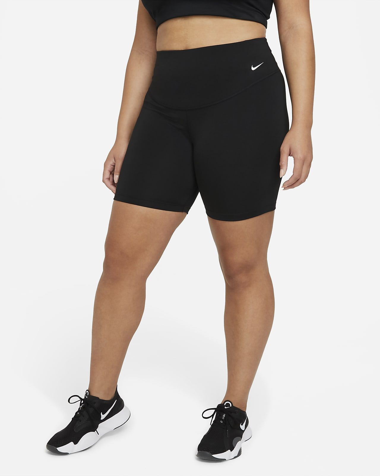 Nike One Pantalón corto de ciclismo de talle medio de 18cm (Talla grande) - Mujer