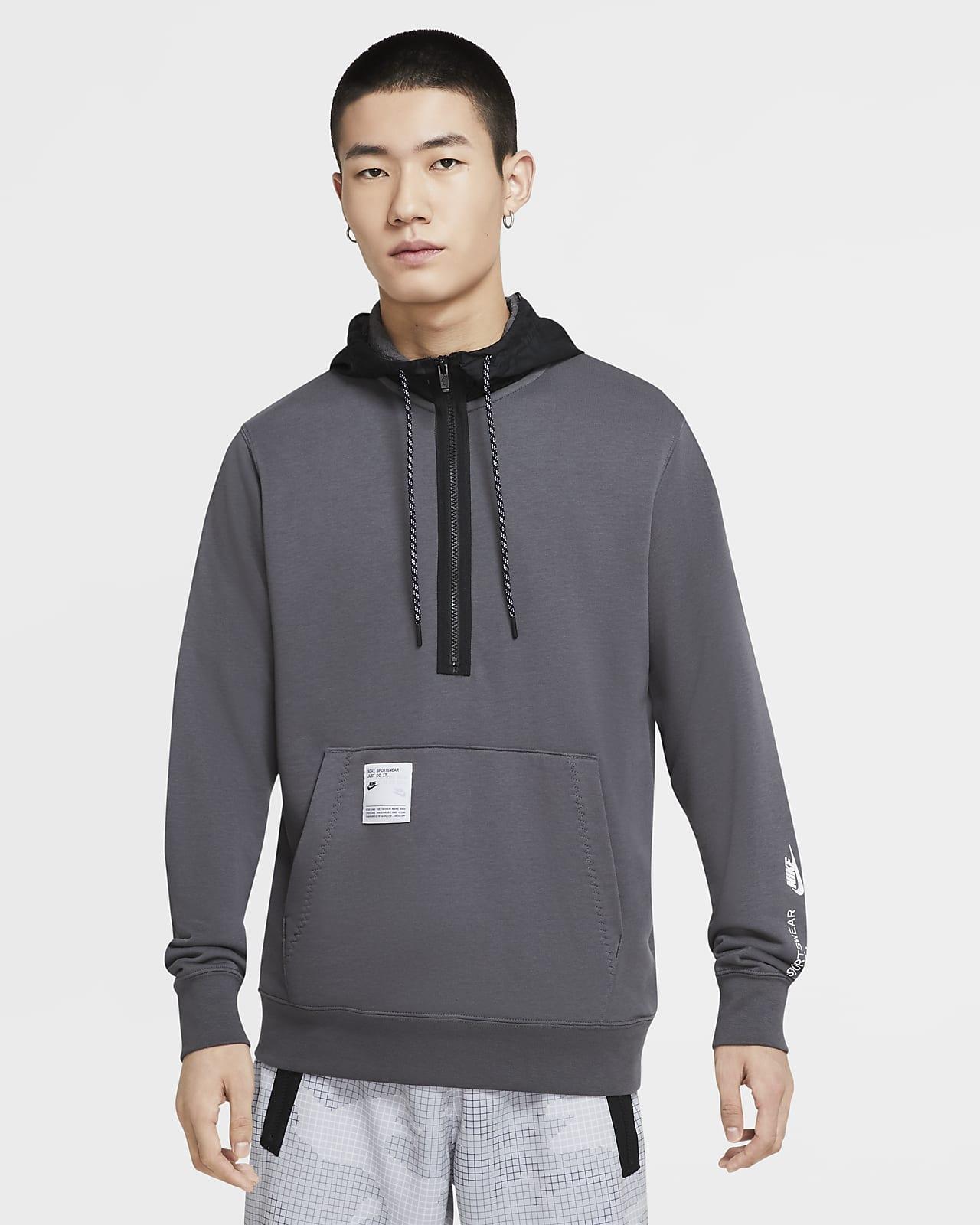 Sweat à capuche et demi-zip Nike Sportswear pour Homme