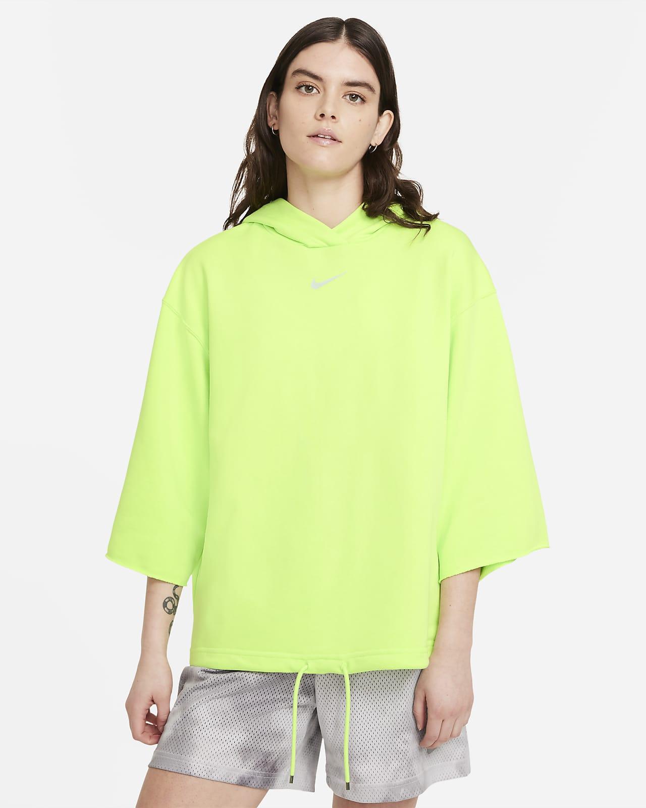 Sudadera con gorro de manga corta para mujer Nike Sportswear Icon Clash