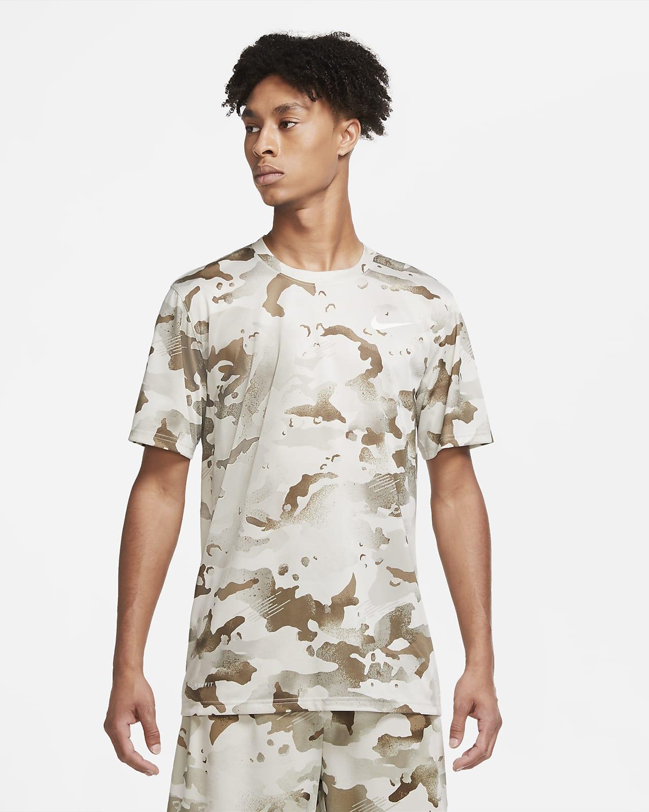 Tränings-t-shirt med kamouflagetryck Nike Dri-FIT för män