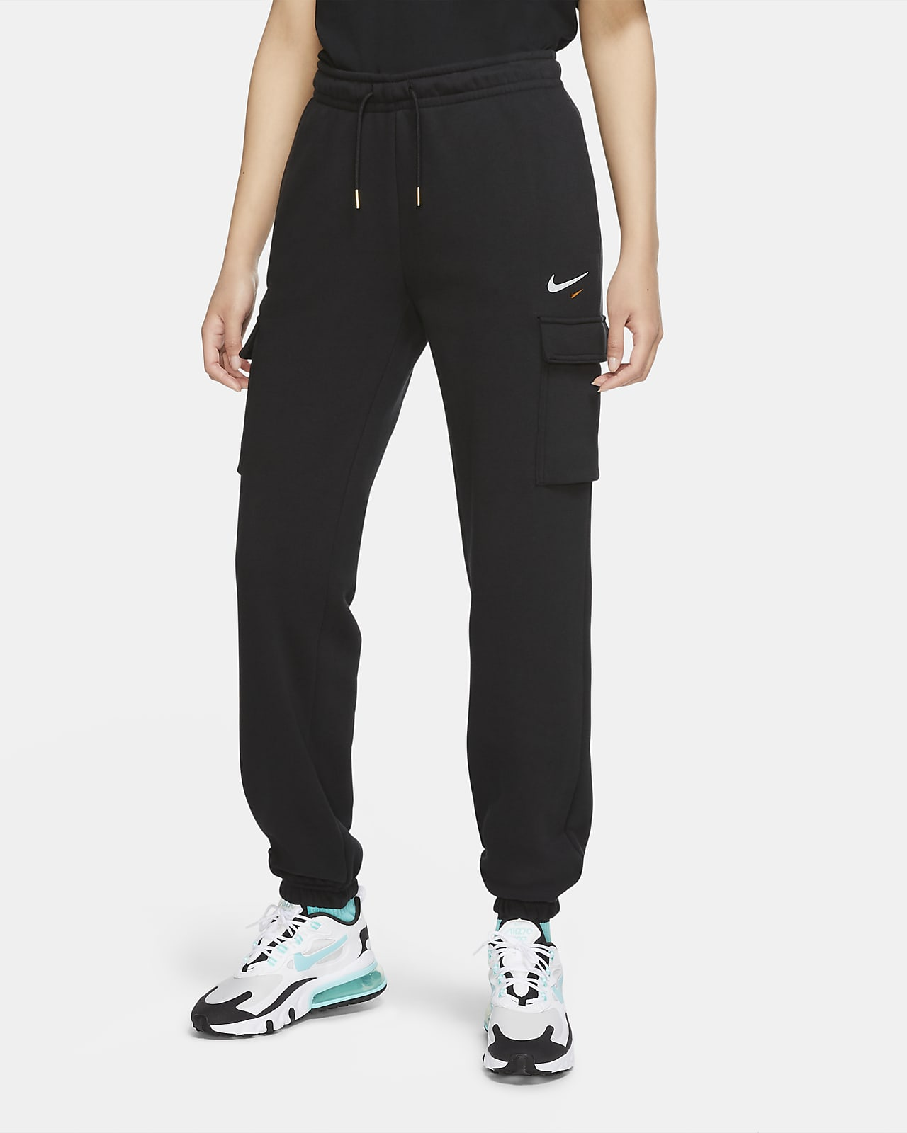 Pantalon cargo à coupe ample en tissu Fleece Nike Sportswear pour Femme