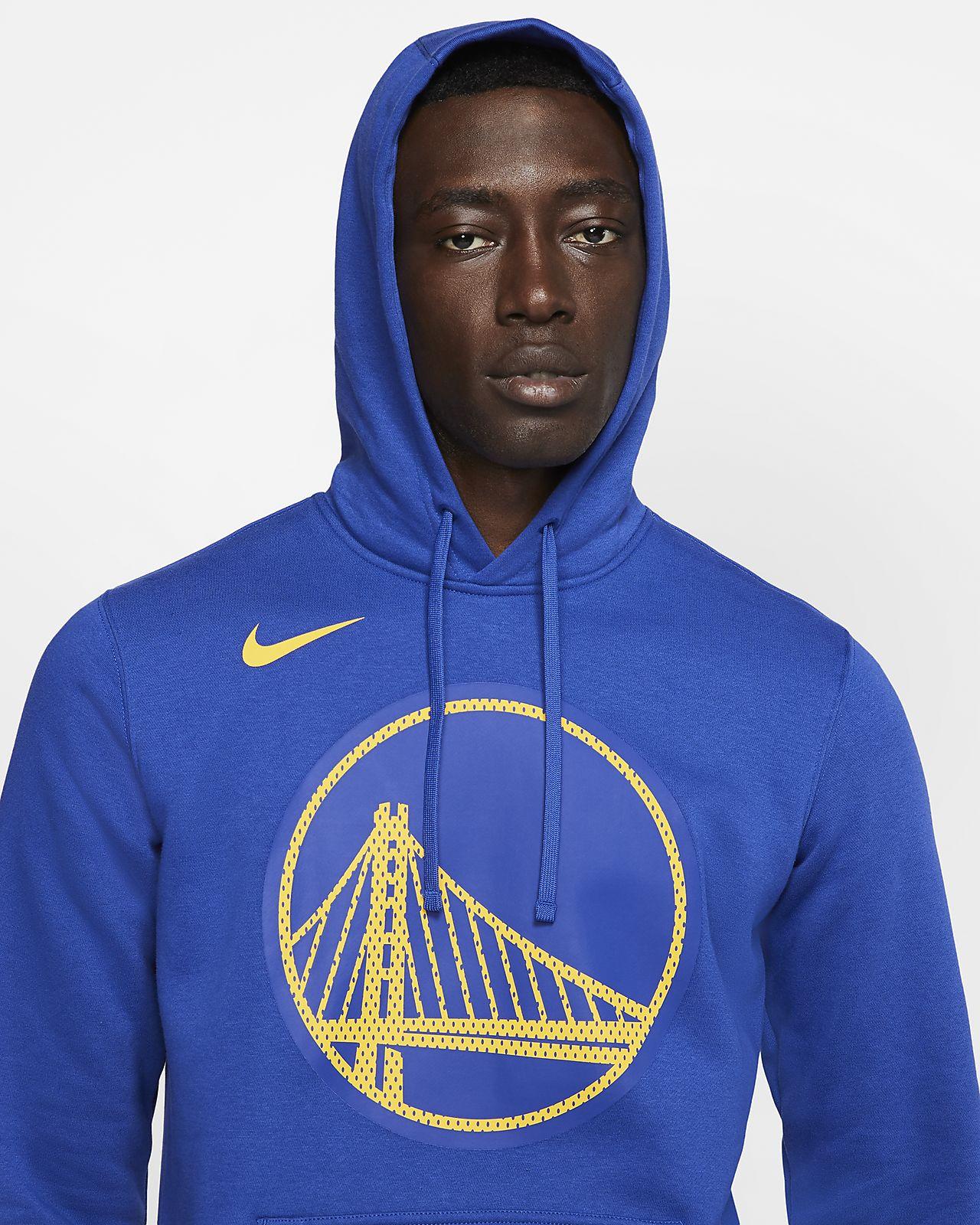 Felpa con cappuccio Golden State Warriors Logo Nike NBA Uomo