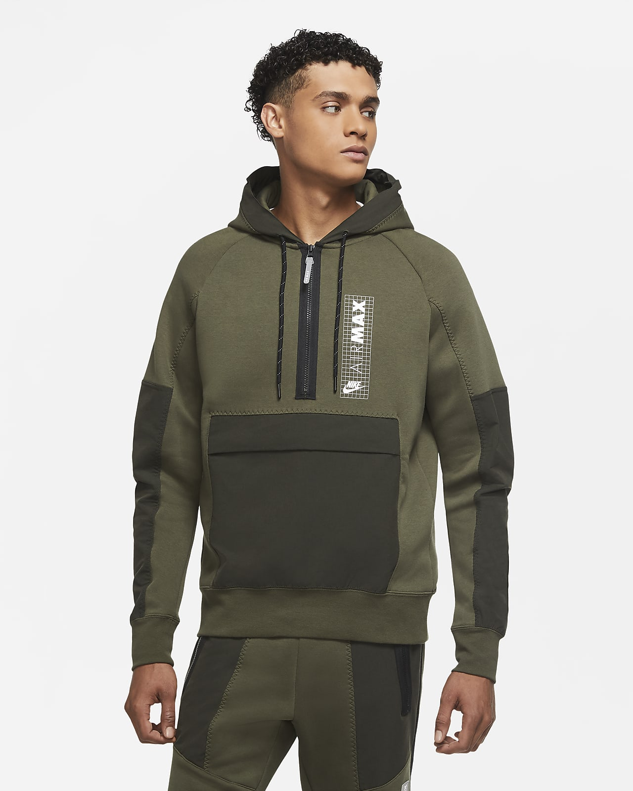 Nike Air Max Yarım Fermuarlı Fleece Erkek Üstü