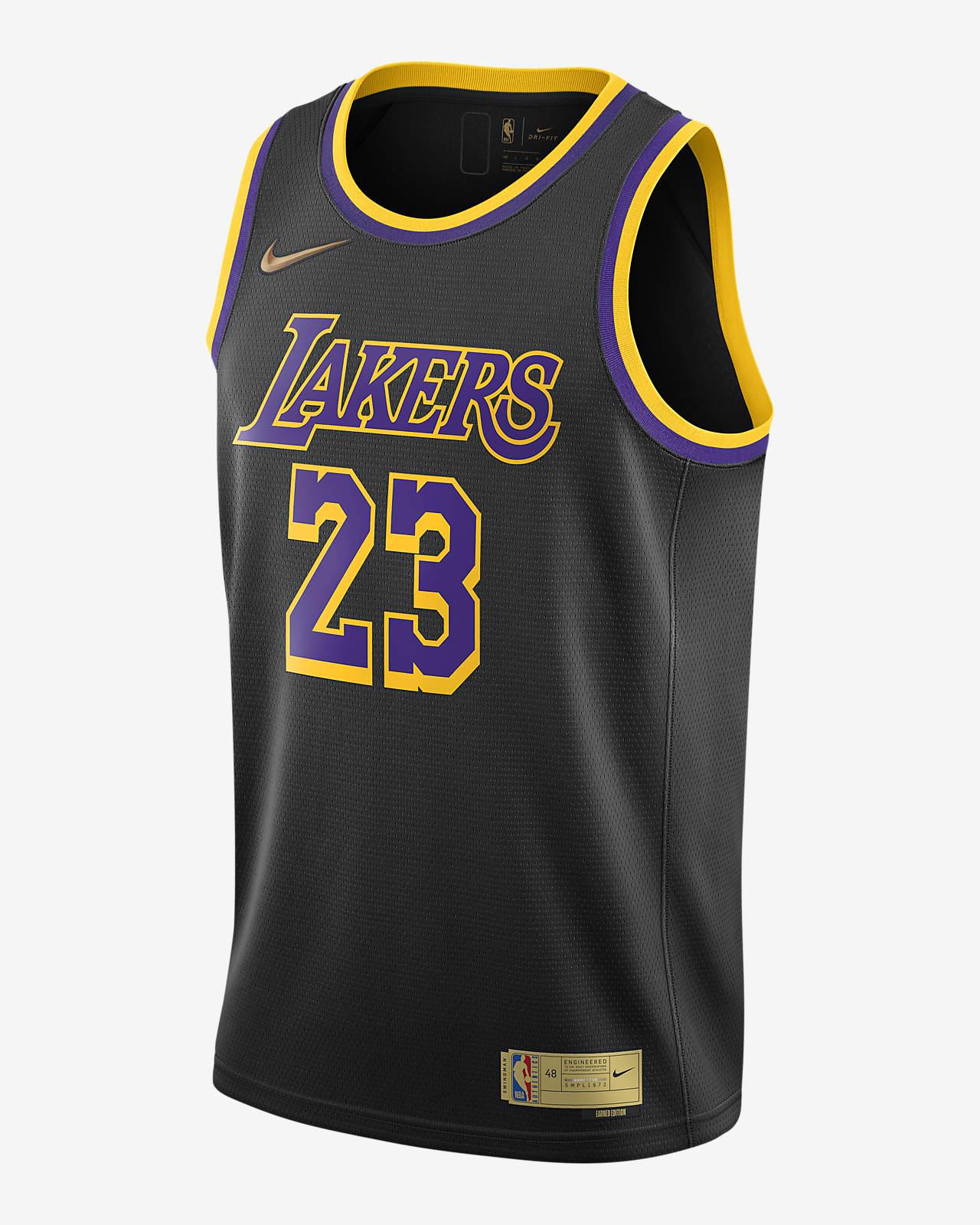 LeBron James Lakers Earned Edition Men's Nike NBA Swingman Jersey