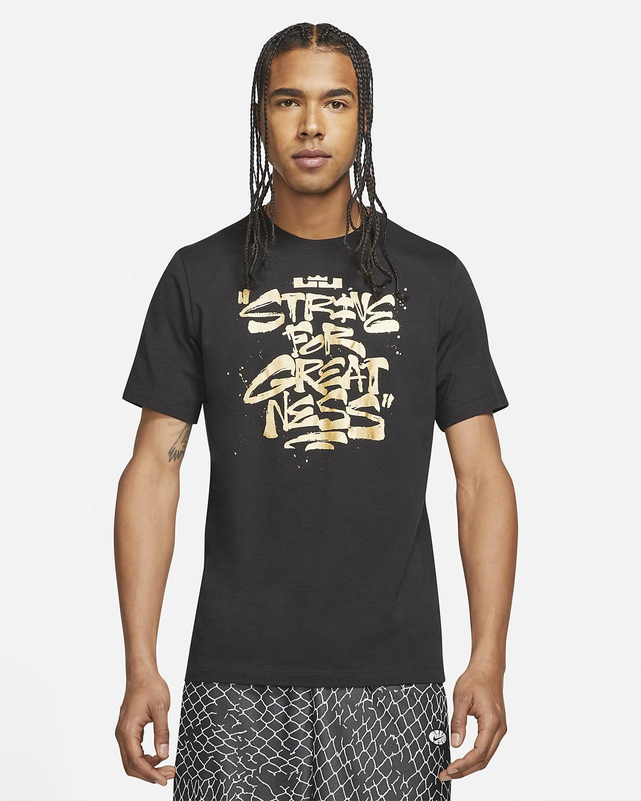 """Basket-t-shirt LeBron """"Strive For Greatness"""" för män"""