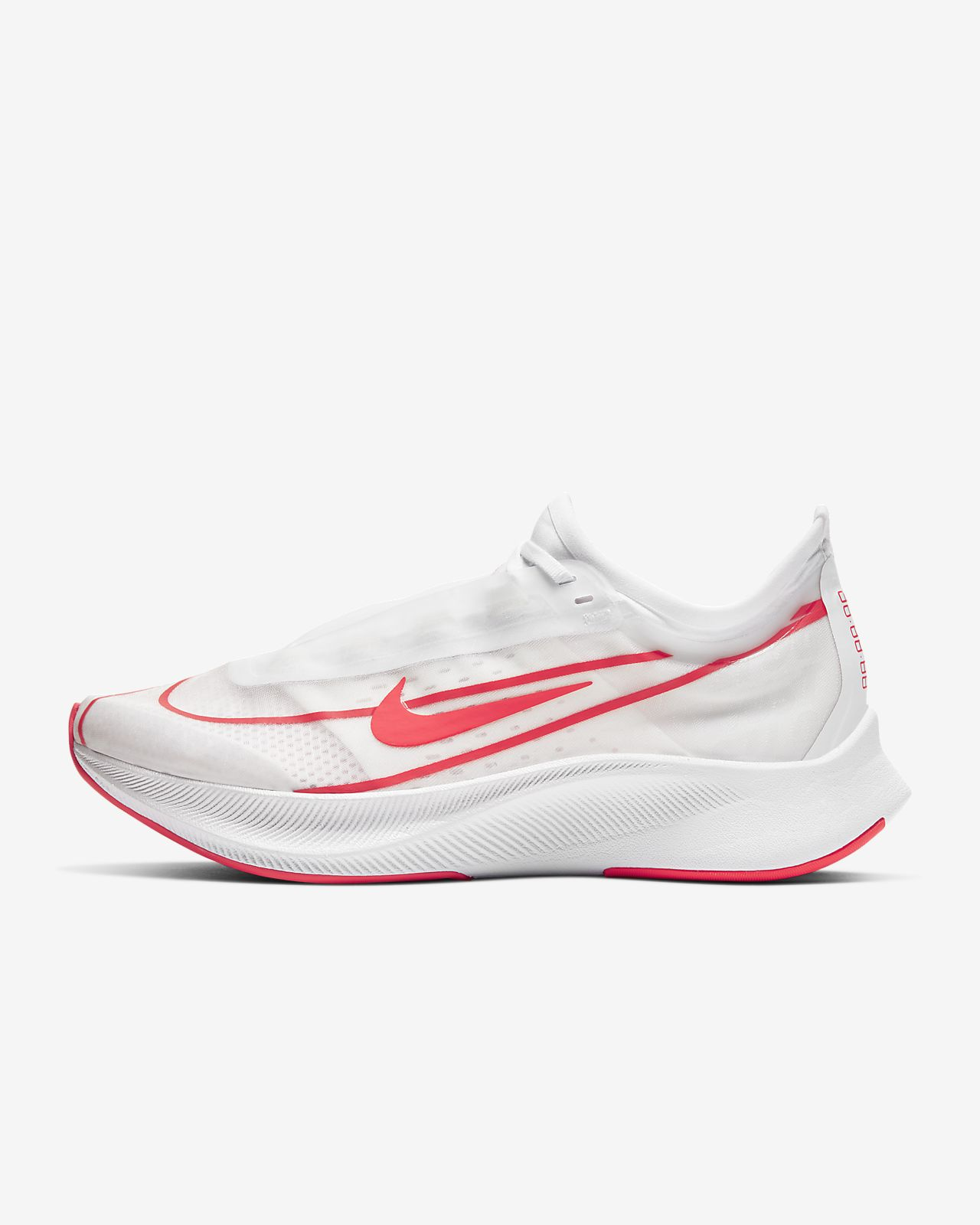 Off White x Nike Zoom Fly Runing SHoes Transparent White