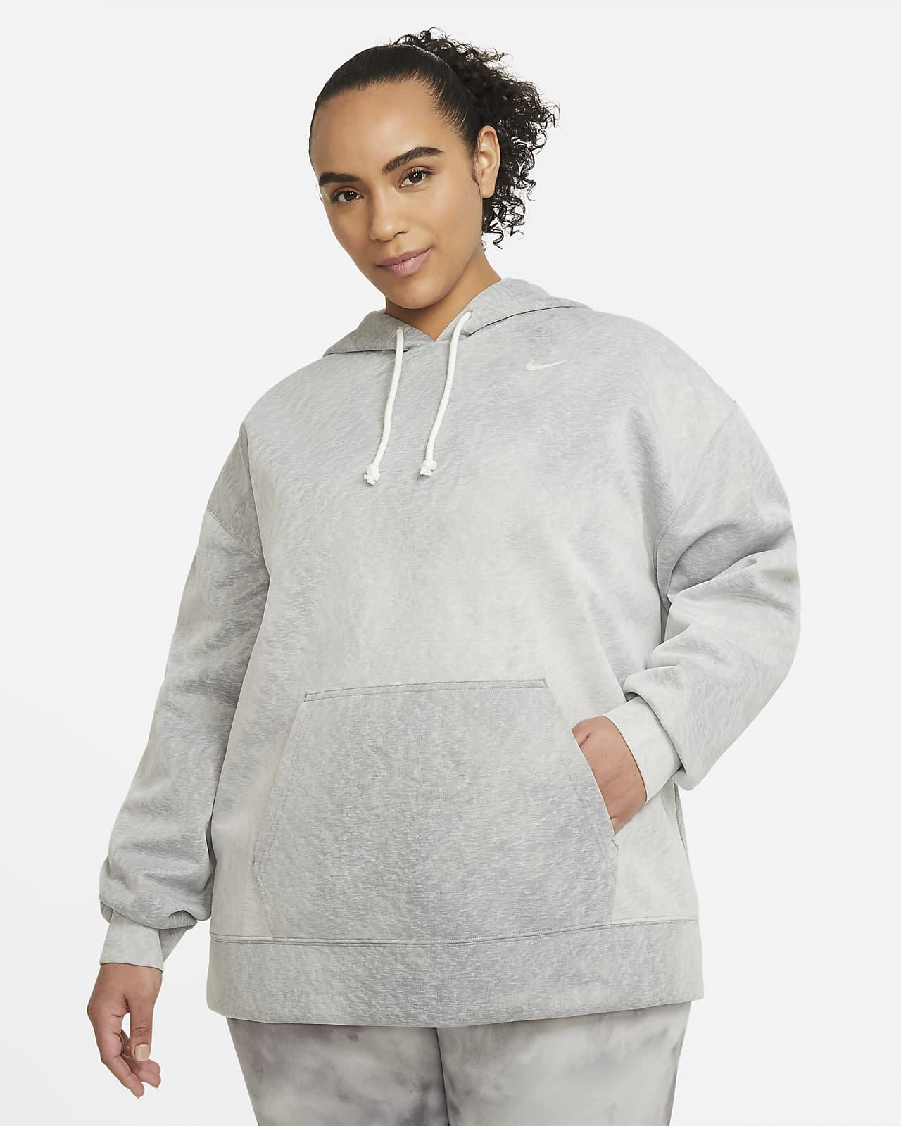 Sudadera con capucha de entrenamiento sin cierre para mujer talla grande Nike Icon Clash