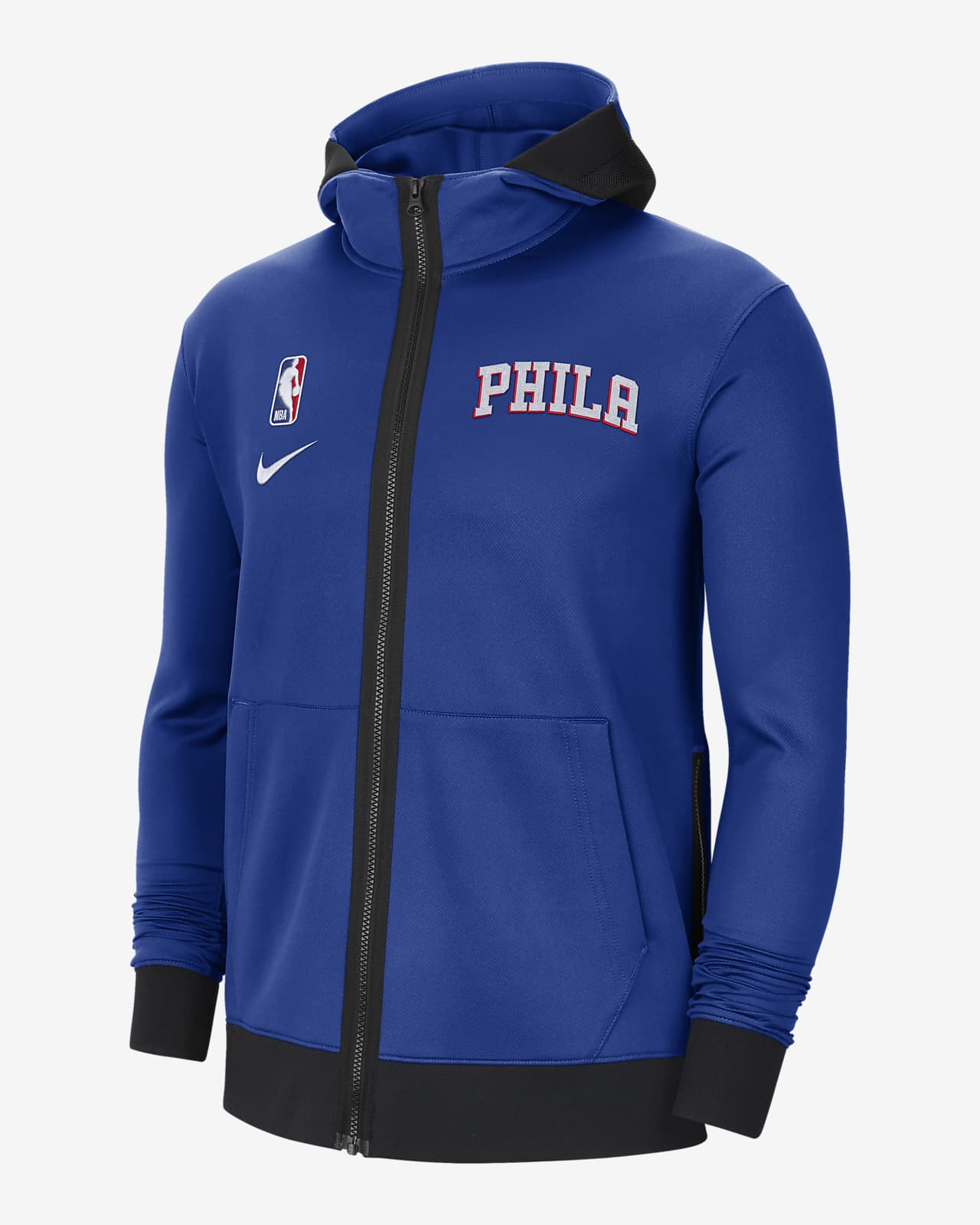 Philadelphia 76ers Showtime Men's Nike Therma Flex NBA Hoodie