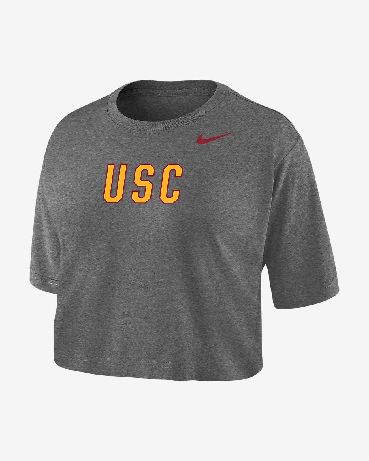 Nike College Dri-FIT (USC) Women's Crop T-Shirt