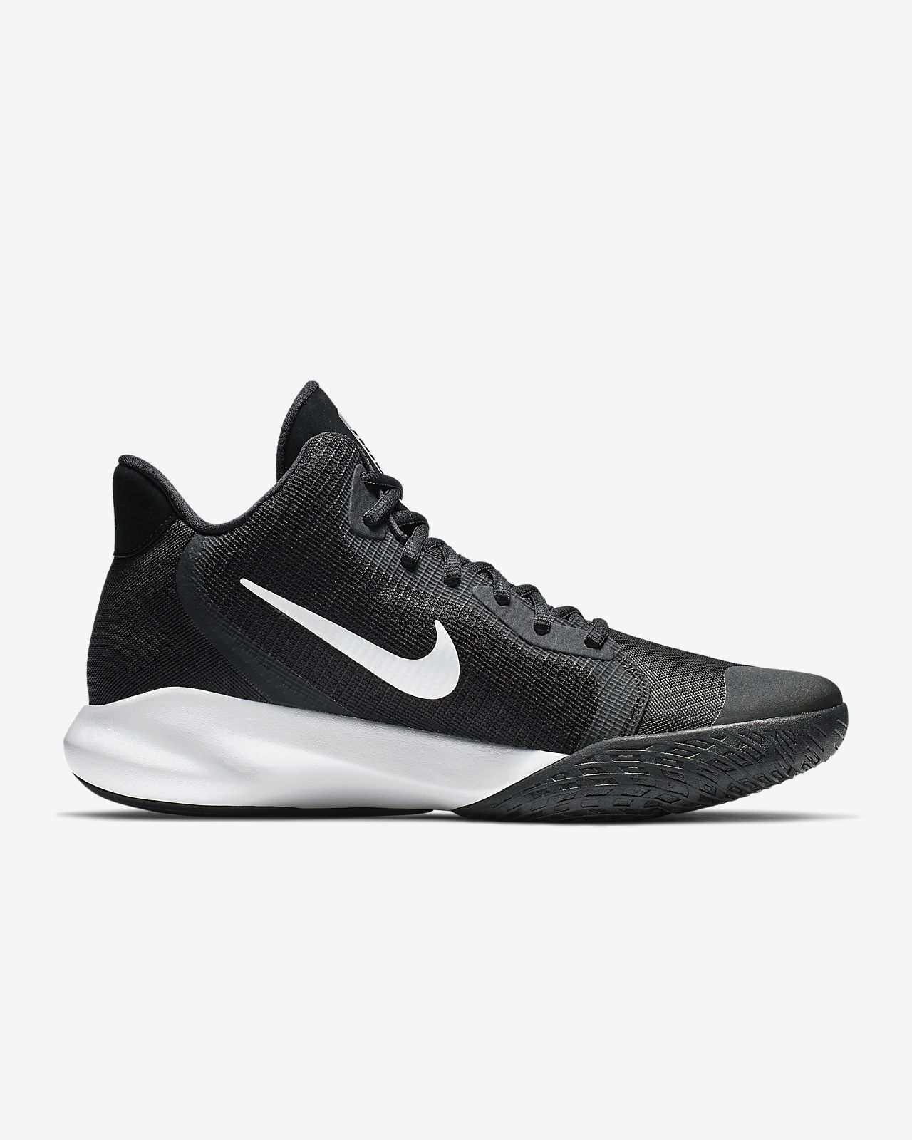 Nike Performance, Precision Iii Basketballschuhe, schwarzweiß