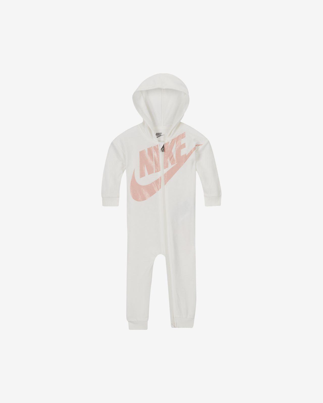Mono con capucha de French Terry para bebé Nike (0-9M)