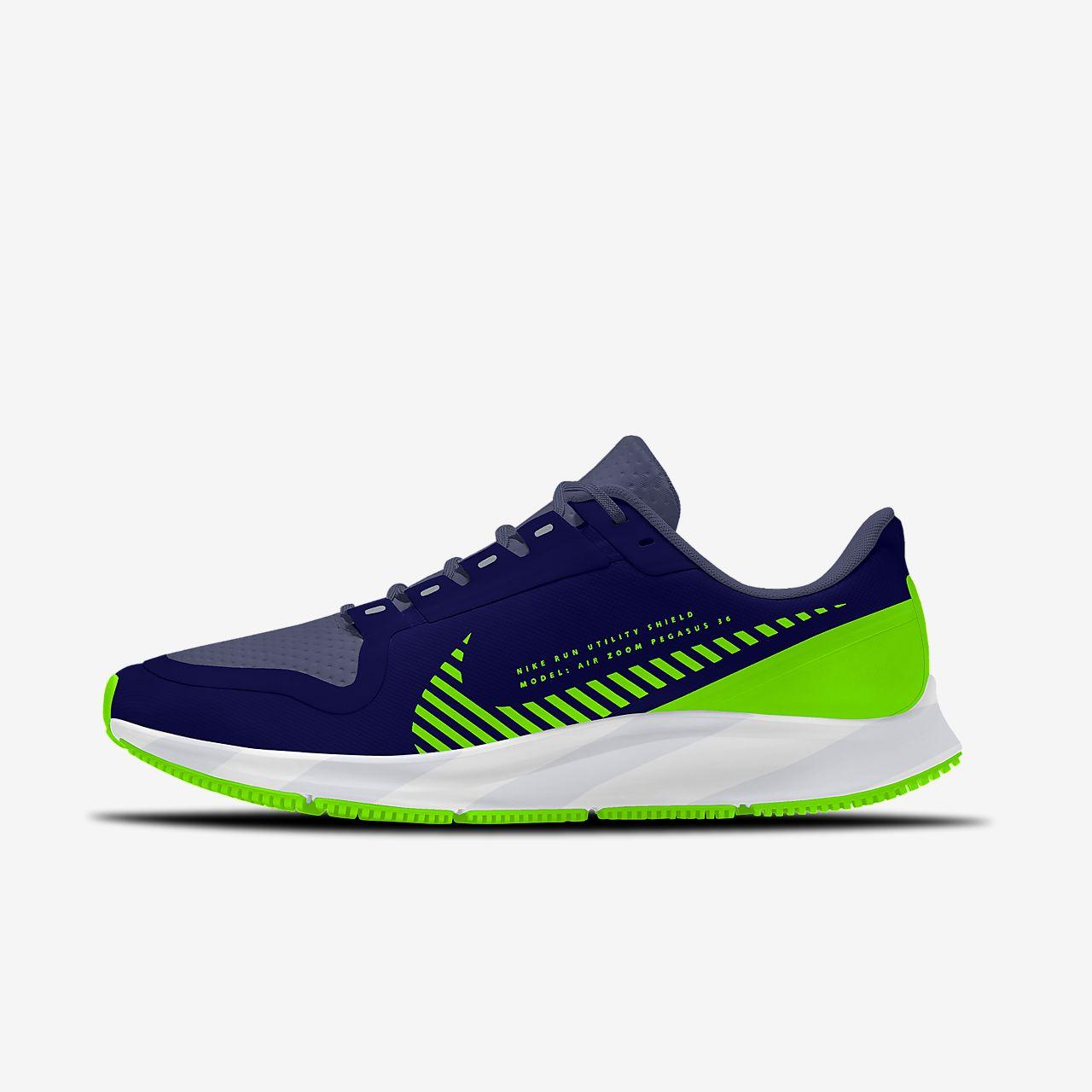 Nike Air Zoom Pegasus 36 Shield By You Custom Women's Running Shoe
