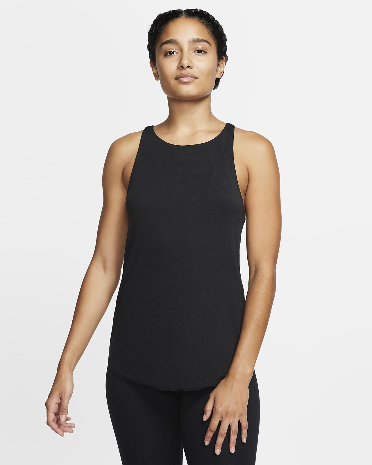 Ribbat linne Nike Yoga Luxe för kvinnor