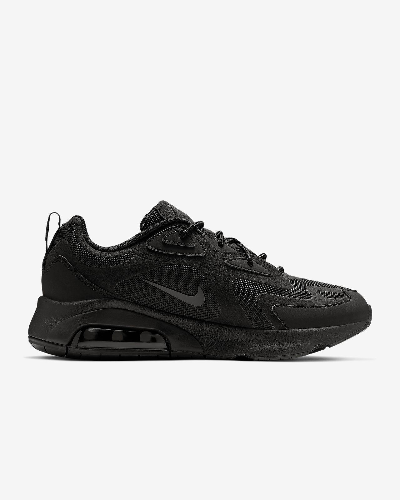 all black nike air max running shoes