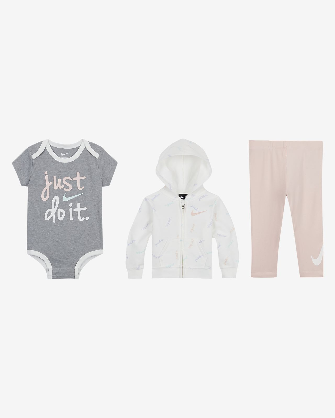 First Impressions Infant Girl White Velour Hoodie Shirt Leggings 2 Piece