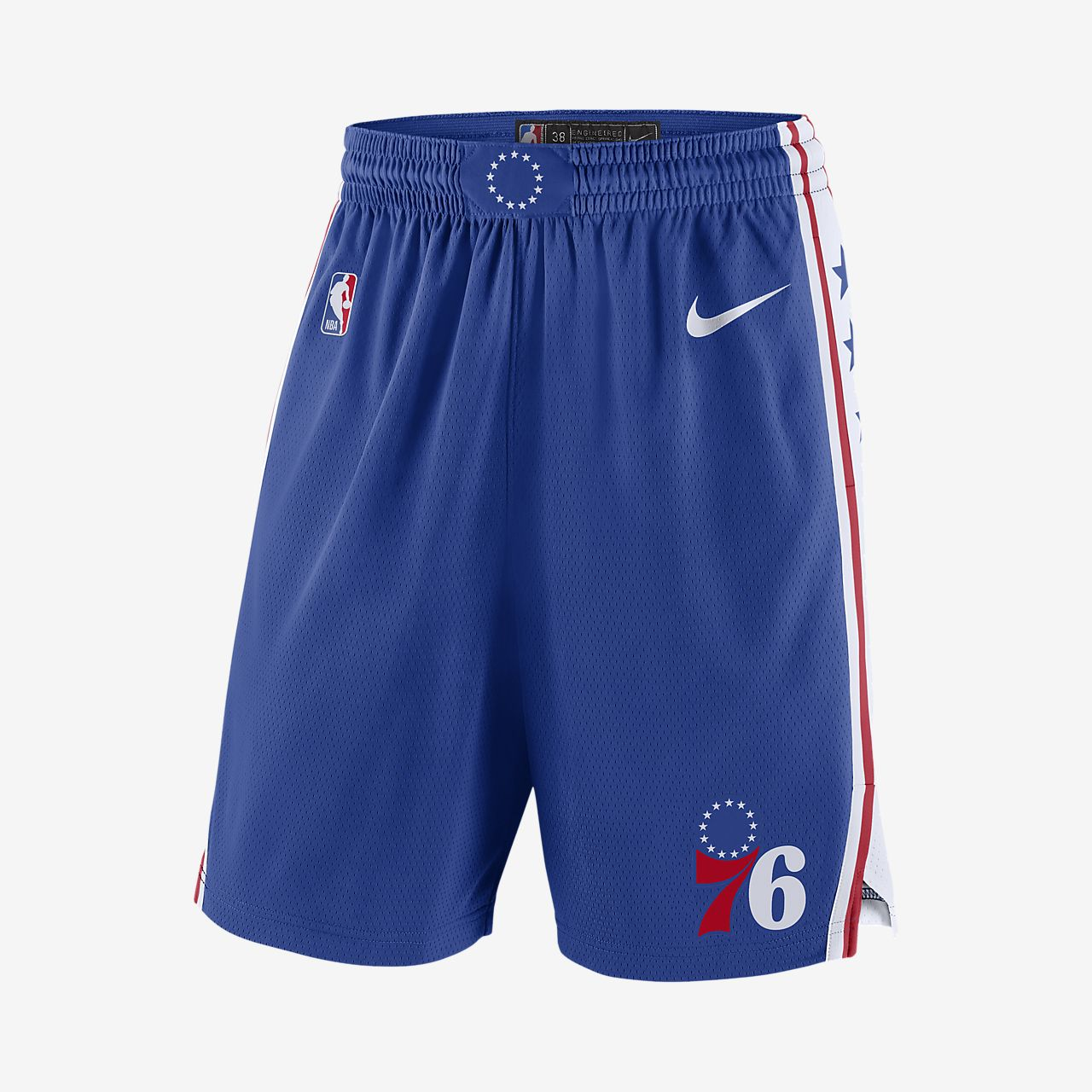 Shorts Nike de la NBA para hombre Philadelphia 76ers Icon Edition Swingman