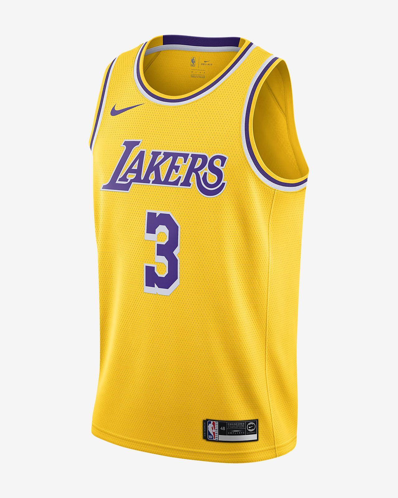Anthony Davis Lakers Icon Edition Nike NBA Swingman Jersey