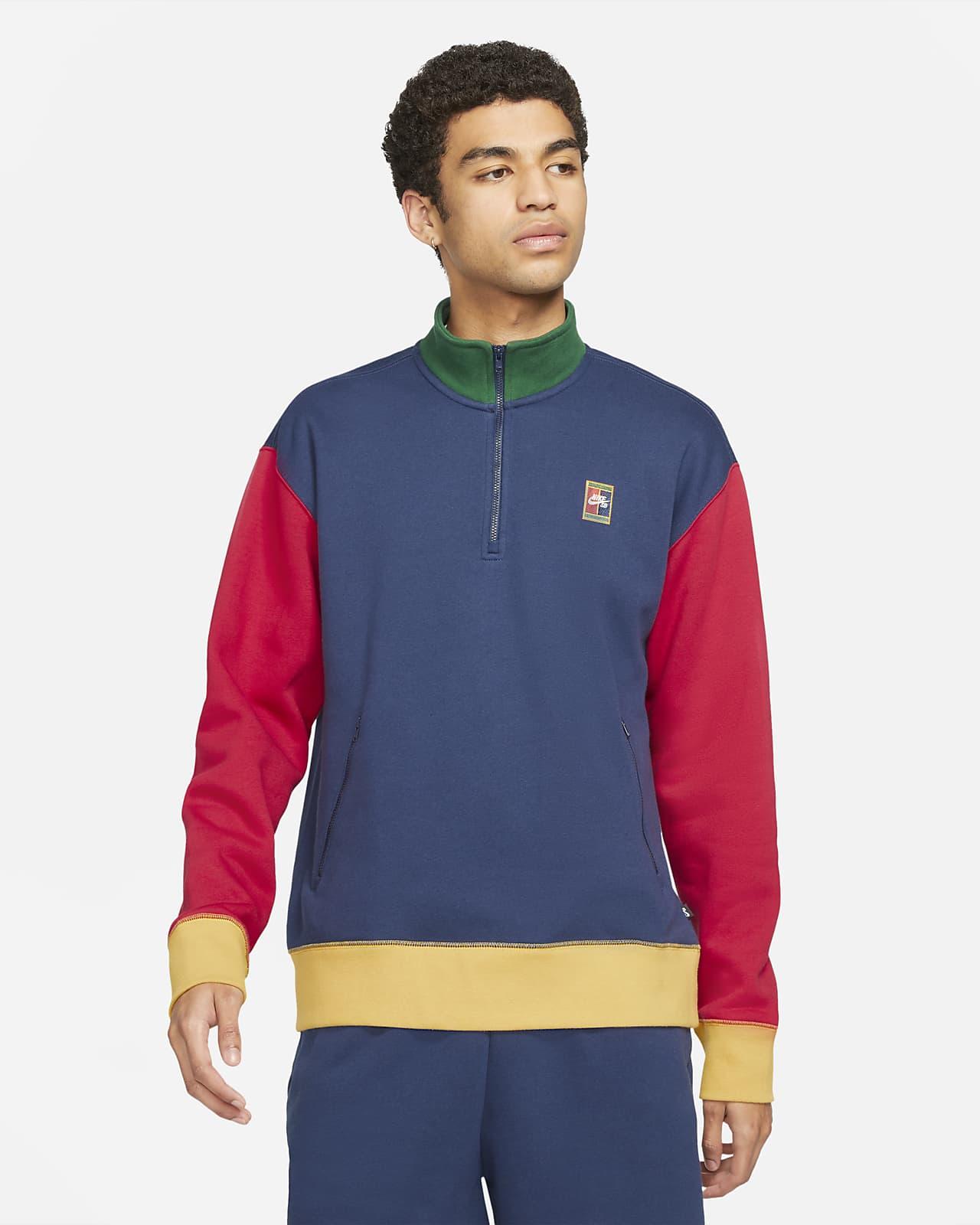 Koszulka z grafiką i zamkiem 1/2 do skateboardingu Nike SB