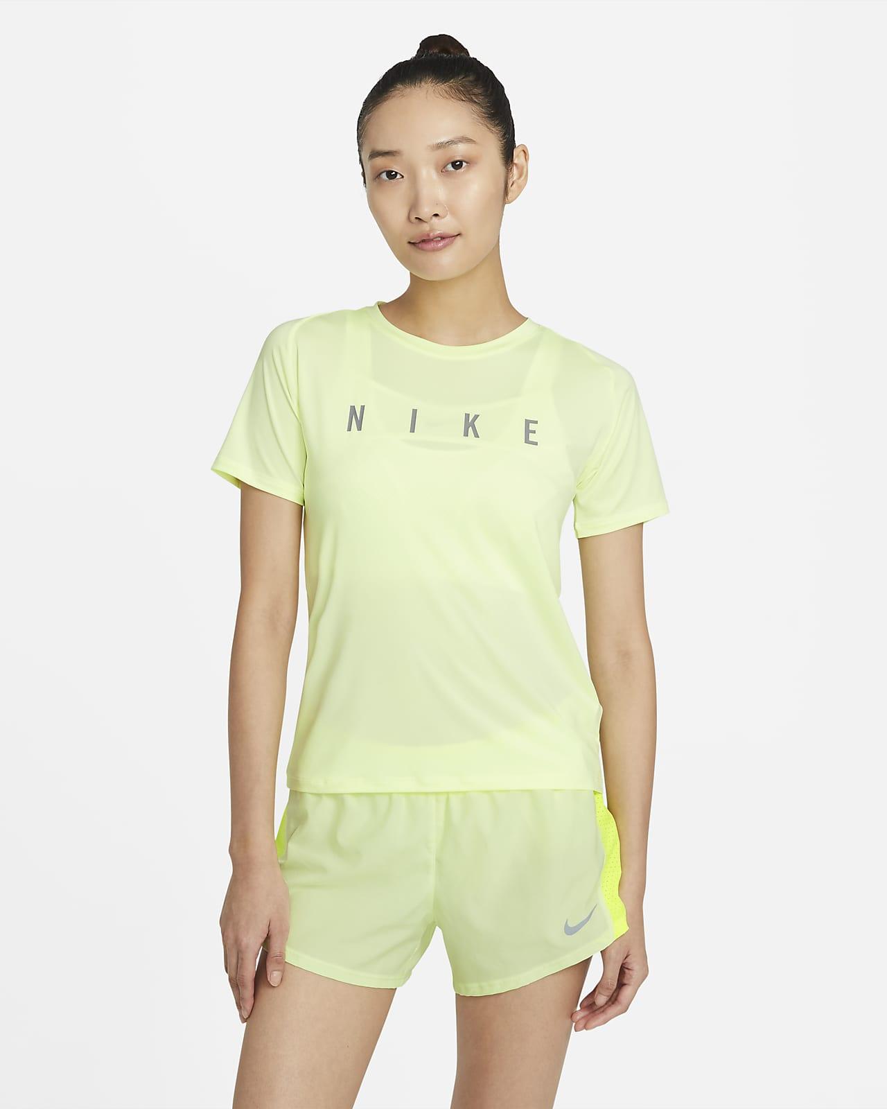 Nike Miler Run Division kortermet løpeoverdel til dame