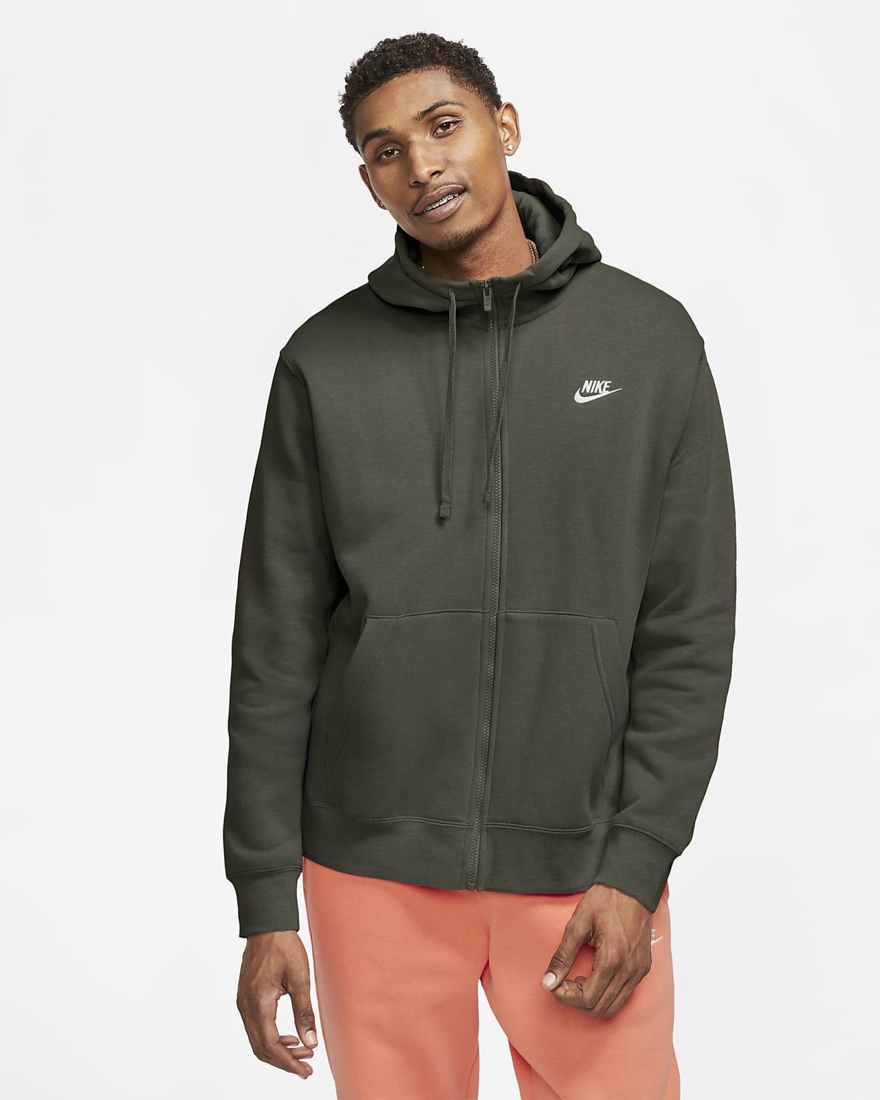 Huvtröja med hel dragkedja Nike Sportswear Club Fleece för män