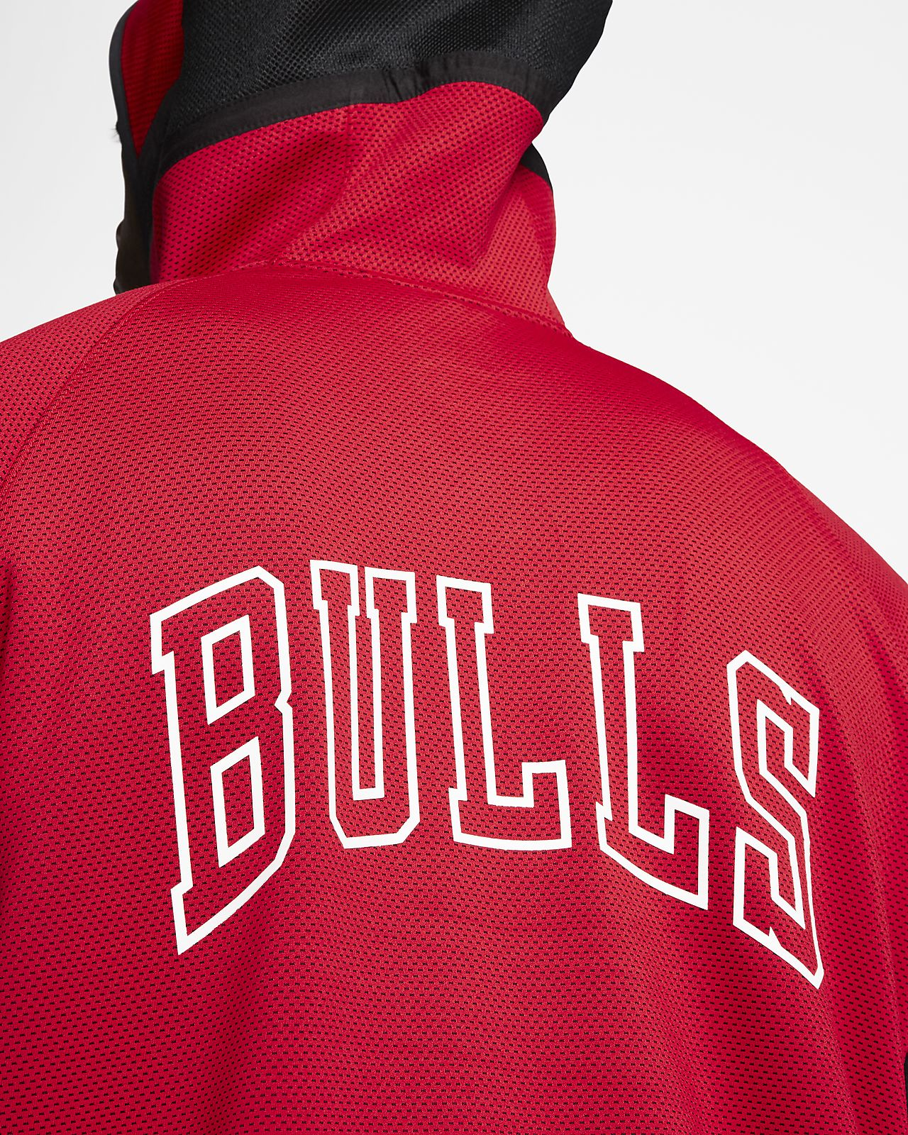 Chicago Bulls Nike Authentic Showtime Therma Flex Performance Full Zip Hoodie Red