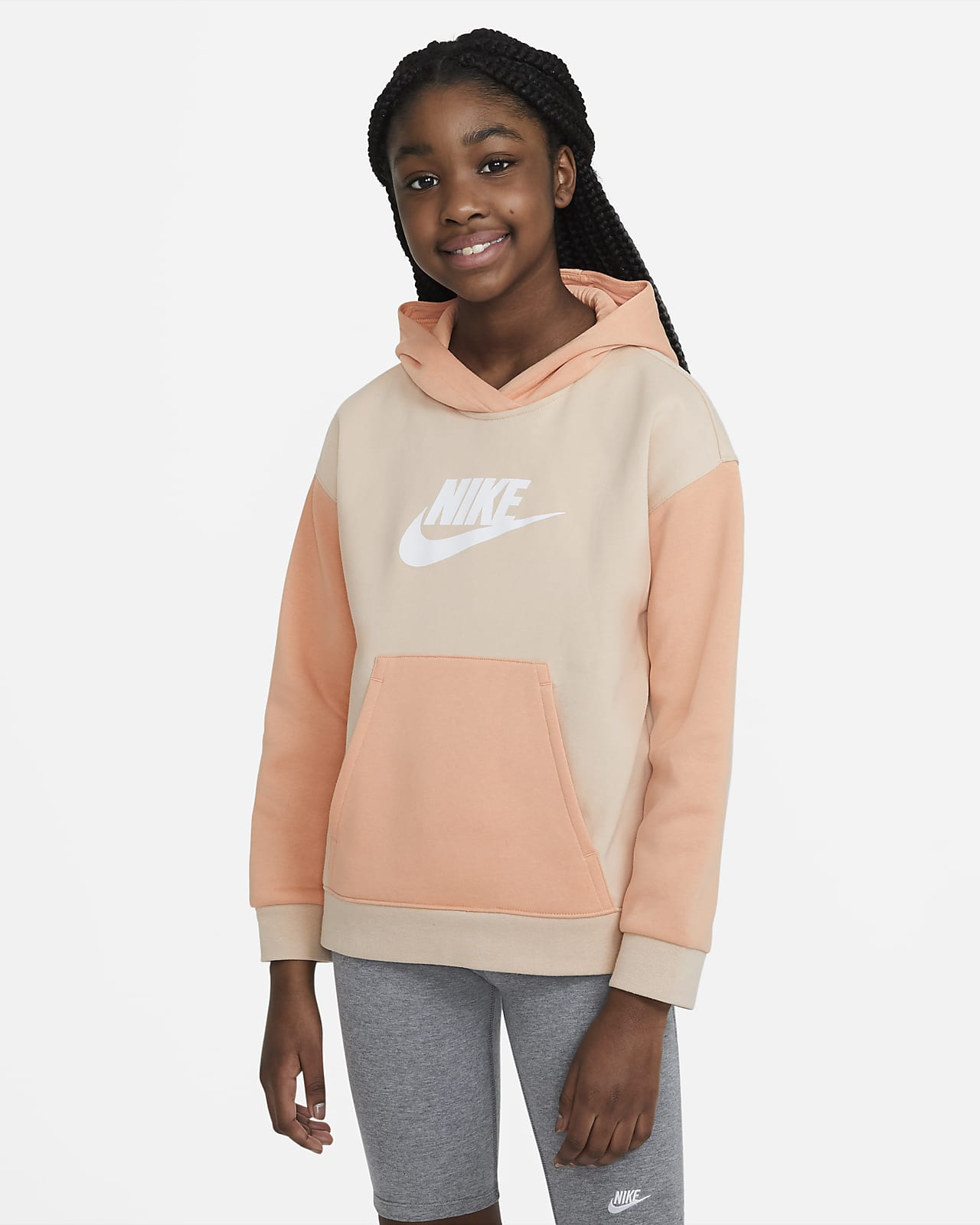 Nike Sportswear hettegenser til store barn (jente)