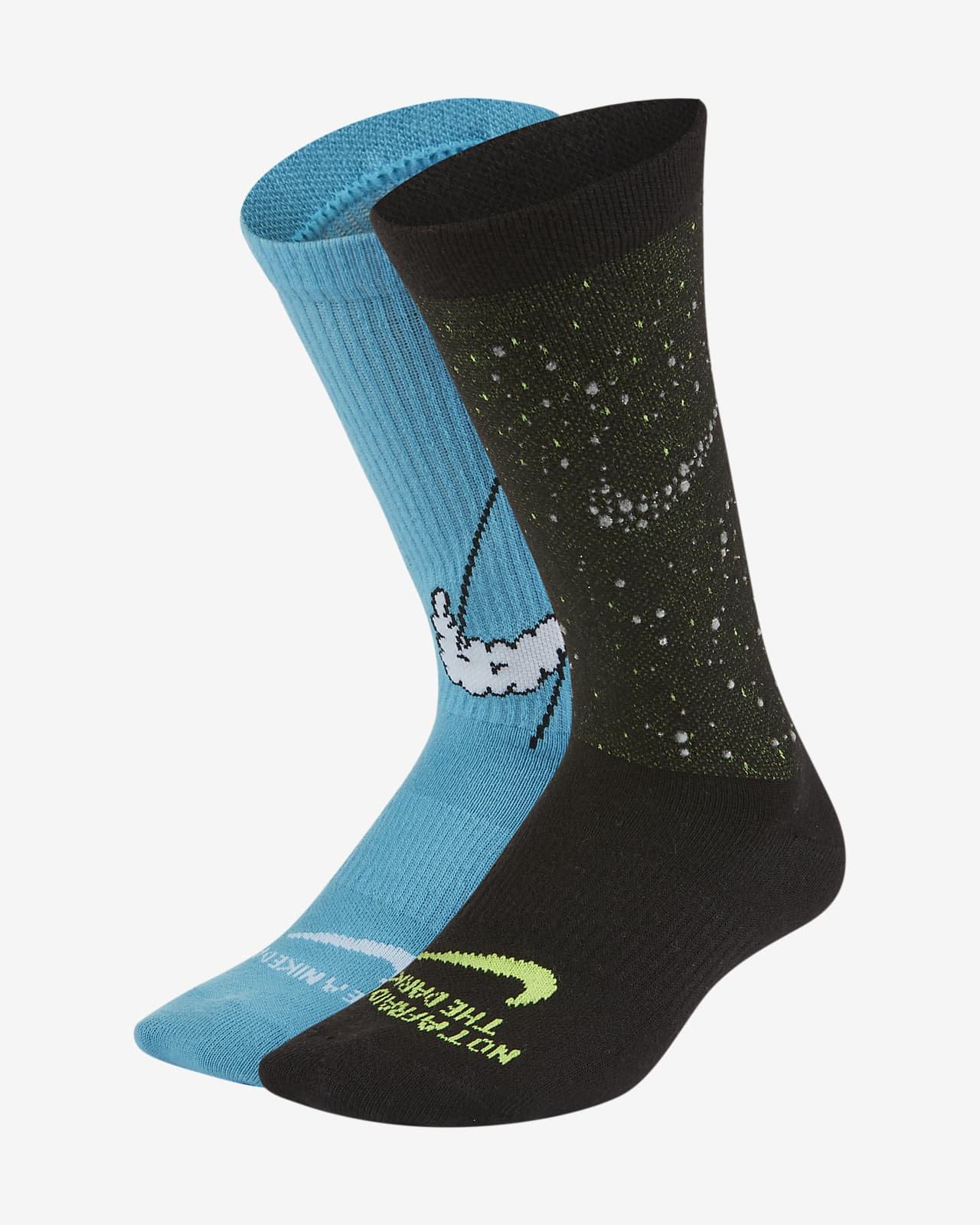 Nike Everyday leichte Crew-Kindersocken (2 Paar)
