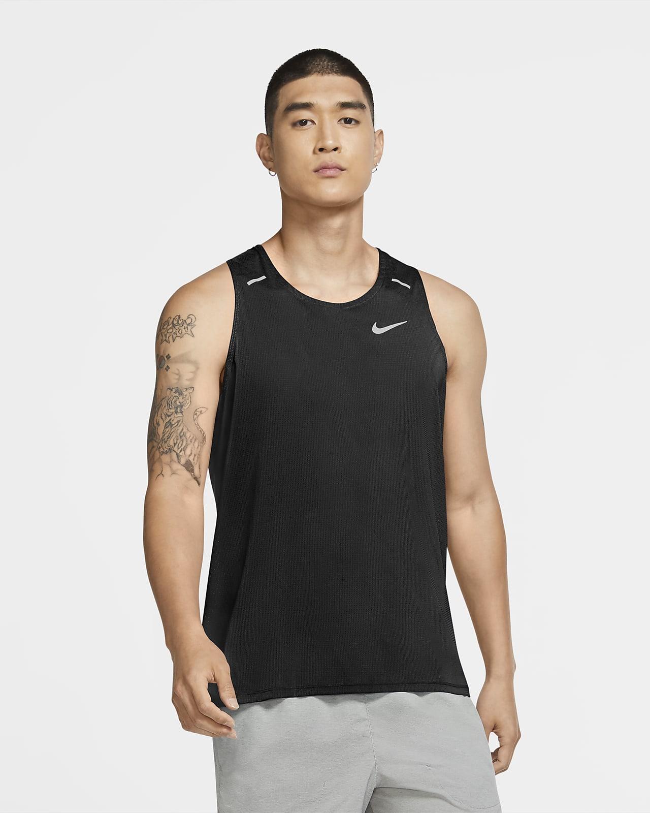 Nike Breathe Rise 365 Camiseta de tirantes de running híbrida - Hombre