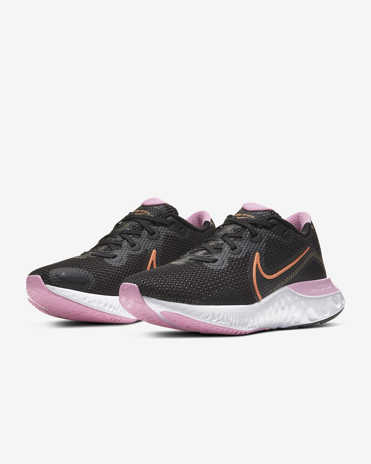 nike womens running shoes black and pink
