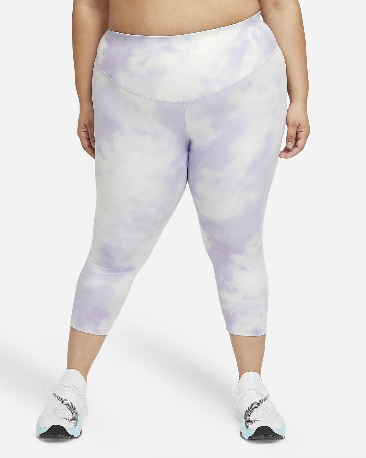 Nike One Icon Clash Women's Mid-Rise Crop Leggings (Plus Size)