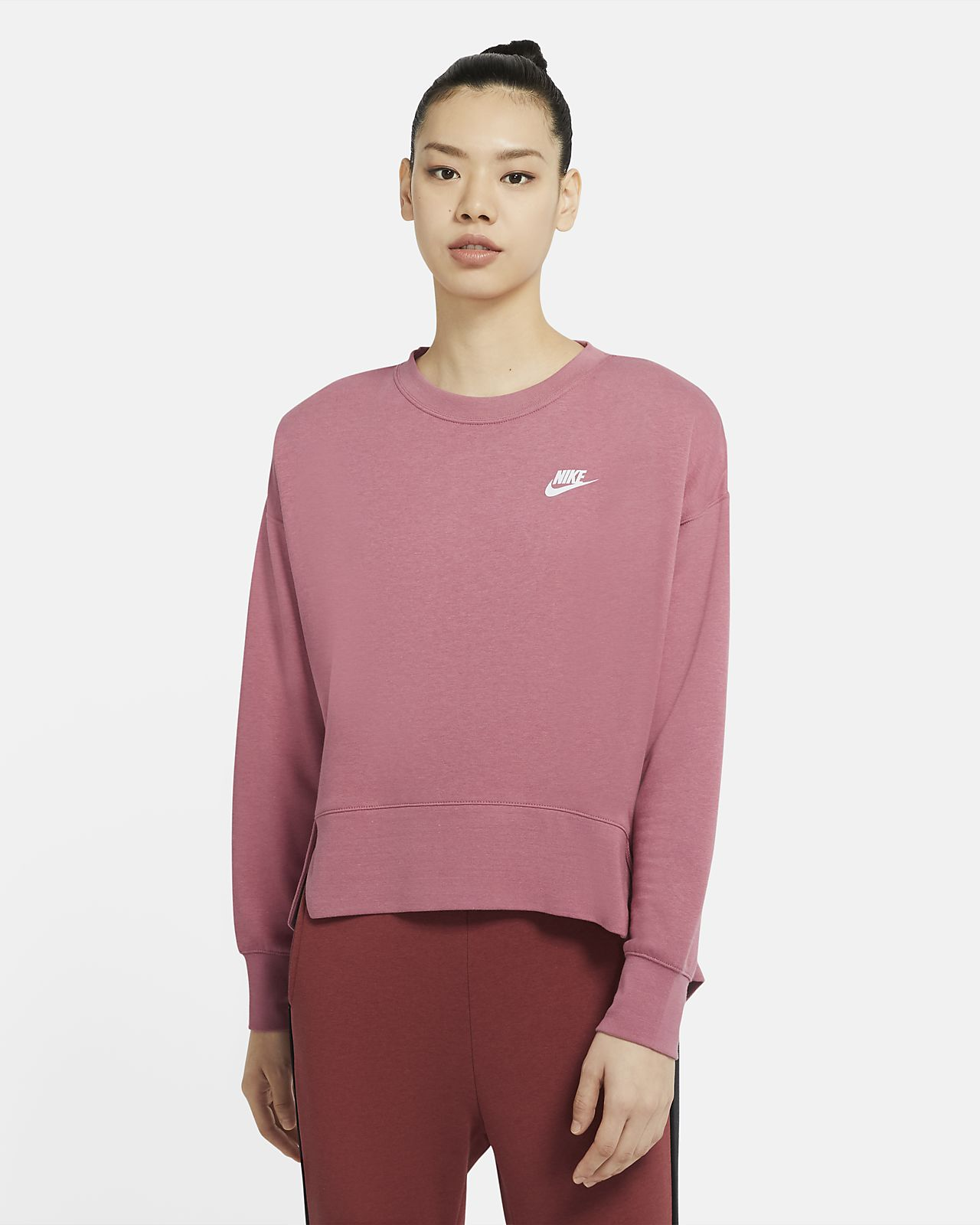 Sudadera de tejido de vellón para mujer Nike Sportswear Club