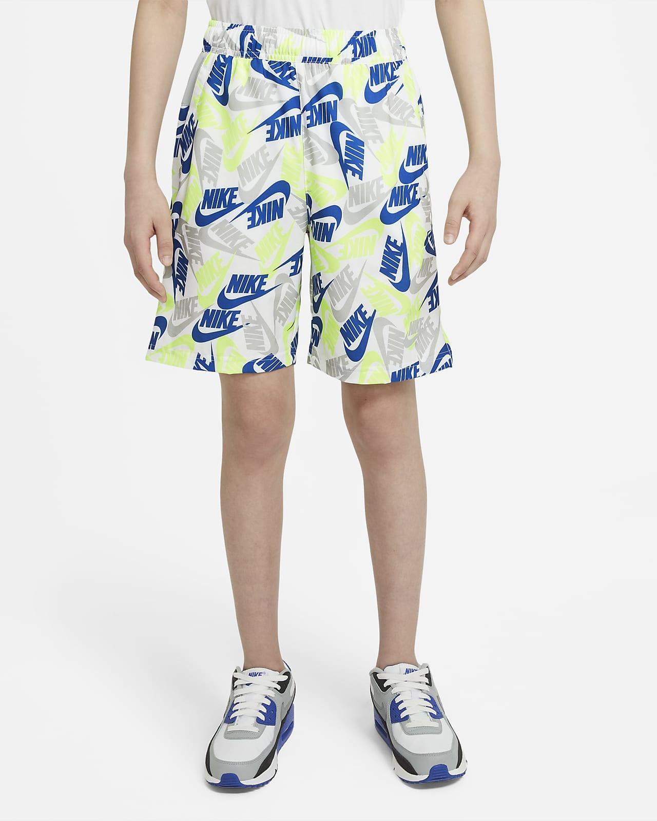 Nike Sportswear Older Kids' (Boys') Printed Woven Shorts