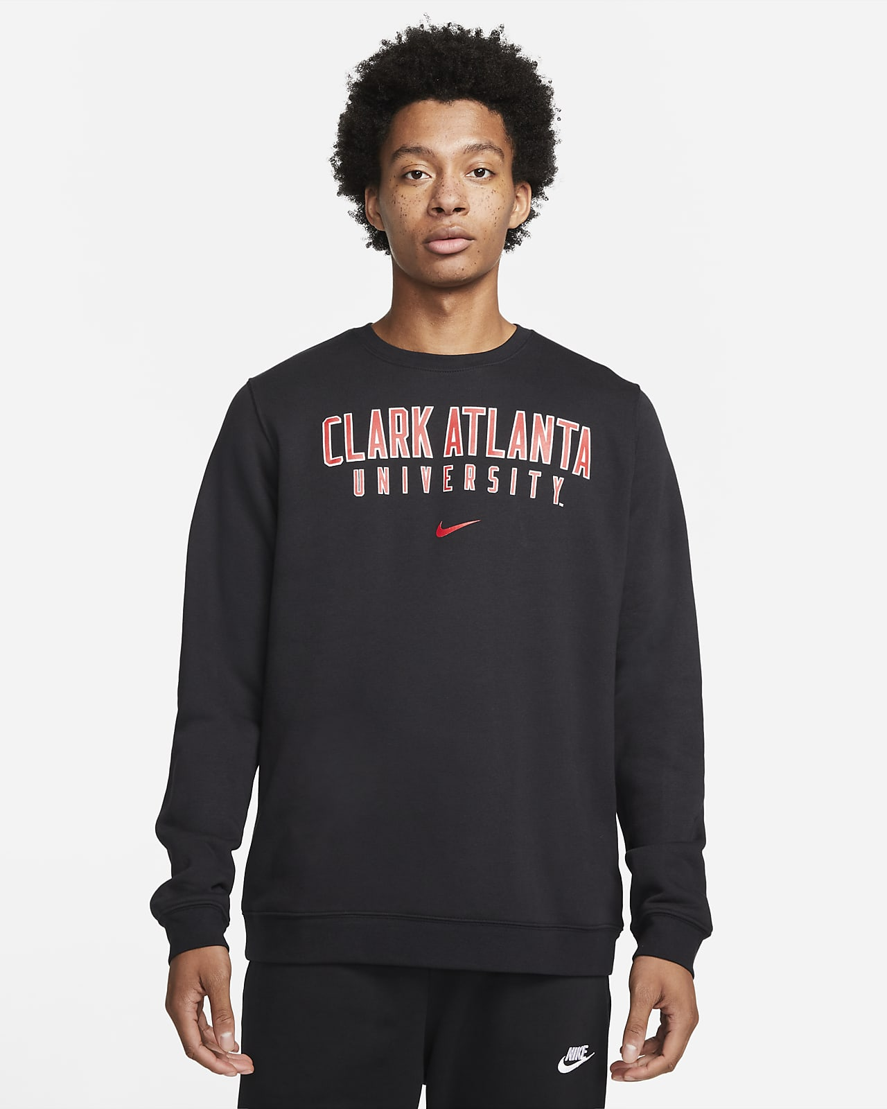 Nike College Club Fleece (Clark Atlanta) Crew Sweatshirt