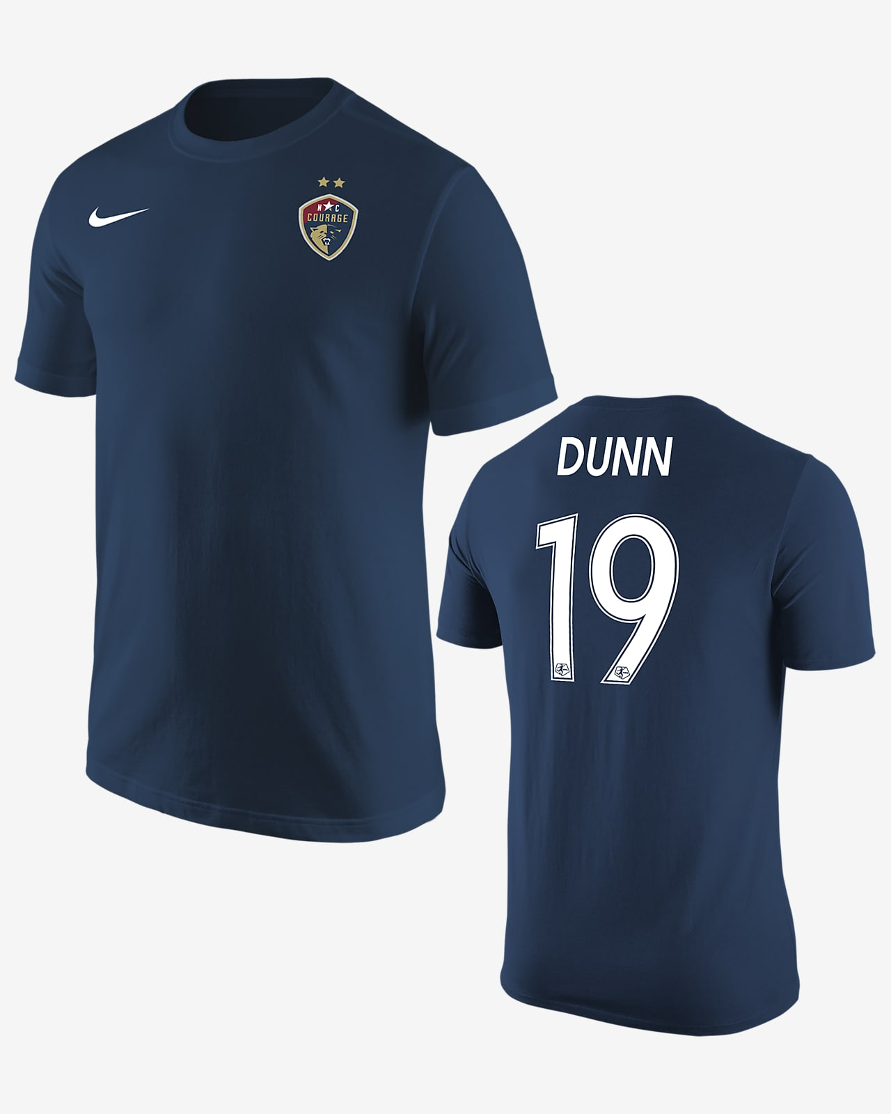Playera de fútbol North Carolina Courage Crystal Dunn