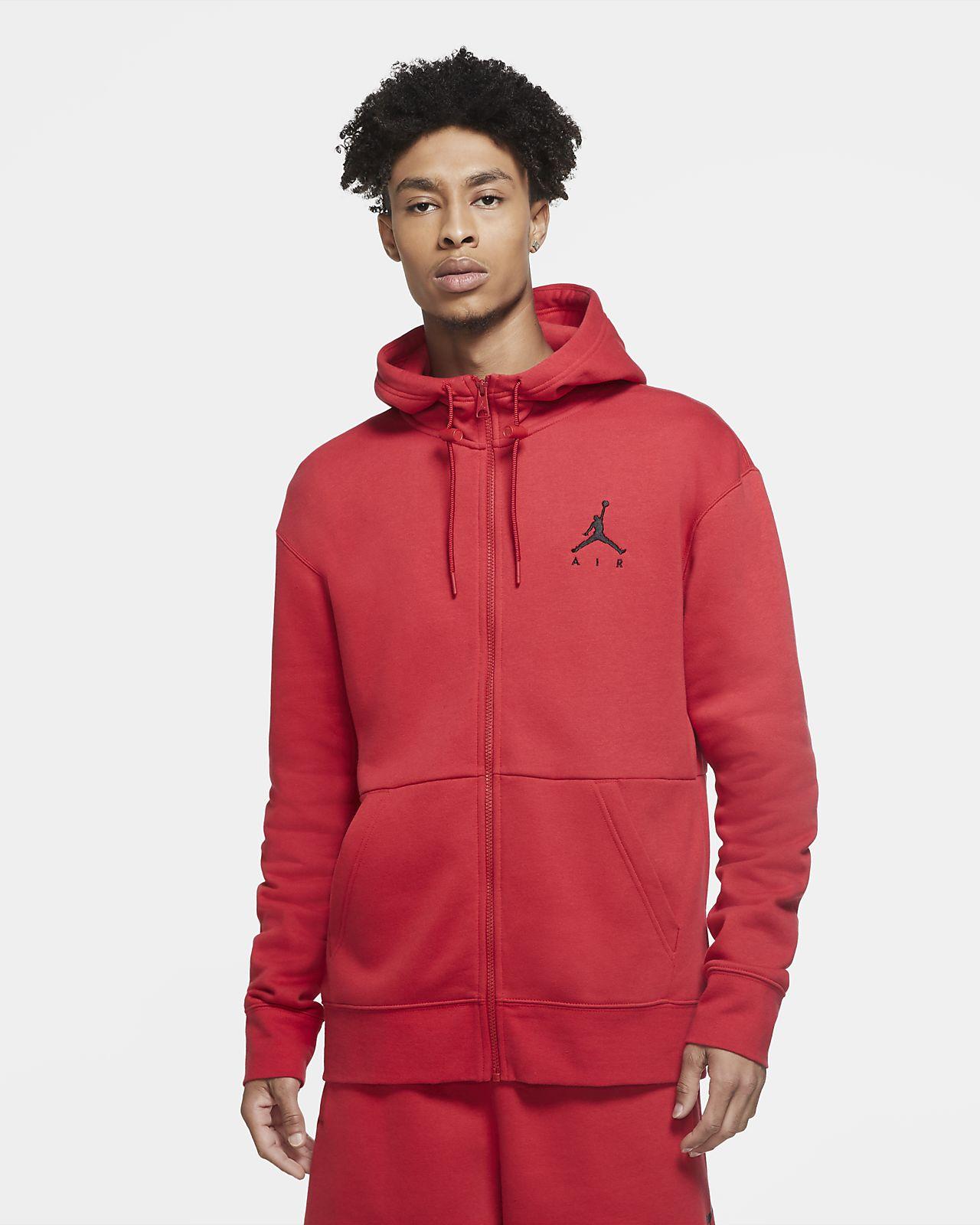 Felpa in fleece con cappuccio e zip a tutta lunghezza Jordan Jumpman Air - Uomo