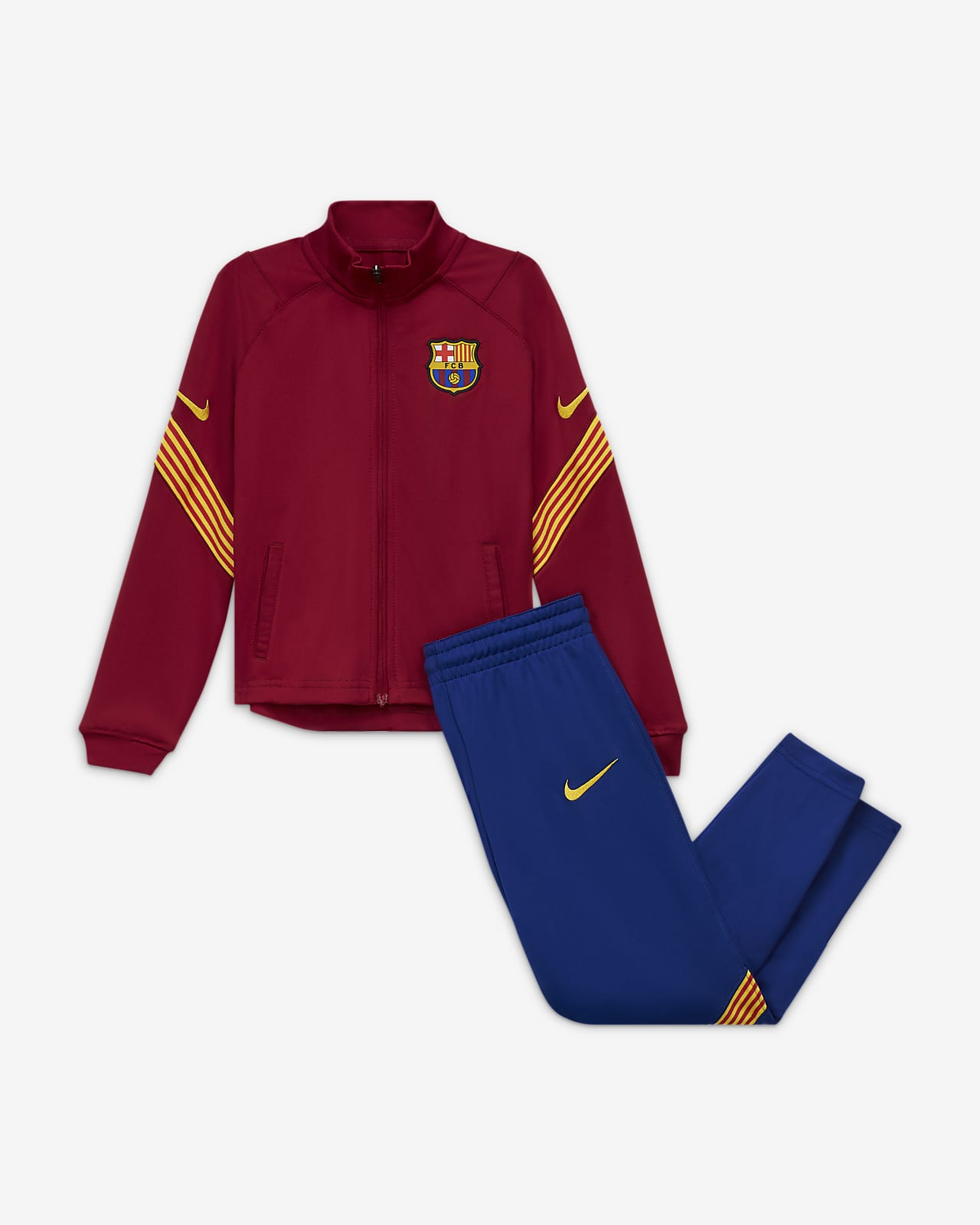 F.C. Barcelona Strike Younger Kids' Knit Football Tracksuit