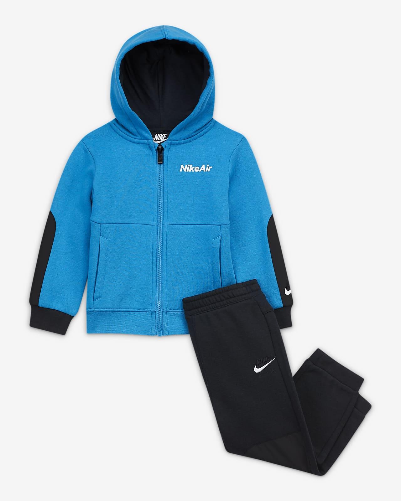 Nike Air cipzáras kapucnis pulóver és nadrág szett babáknak (12–24 hónapos)