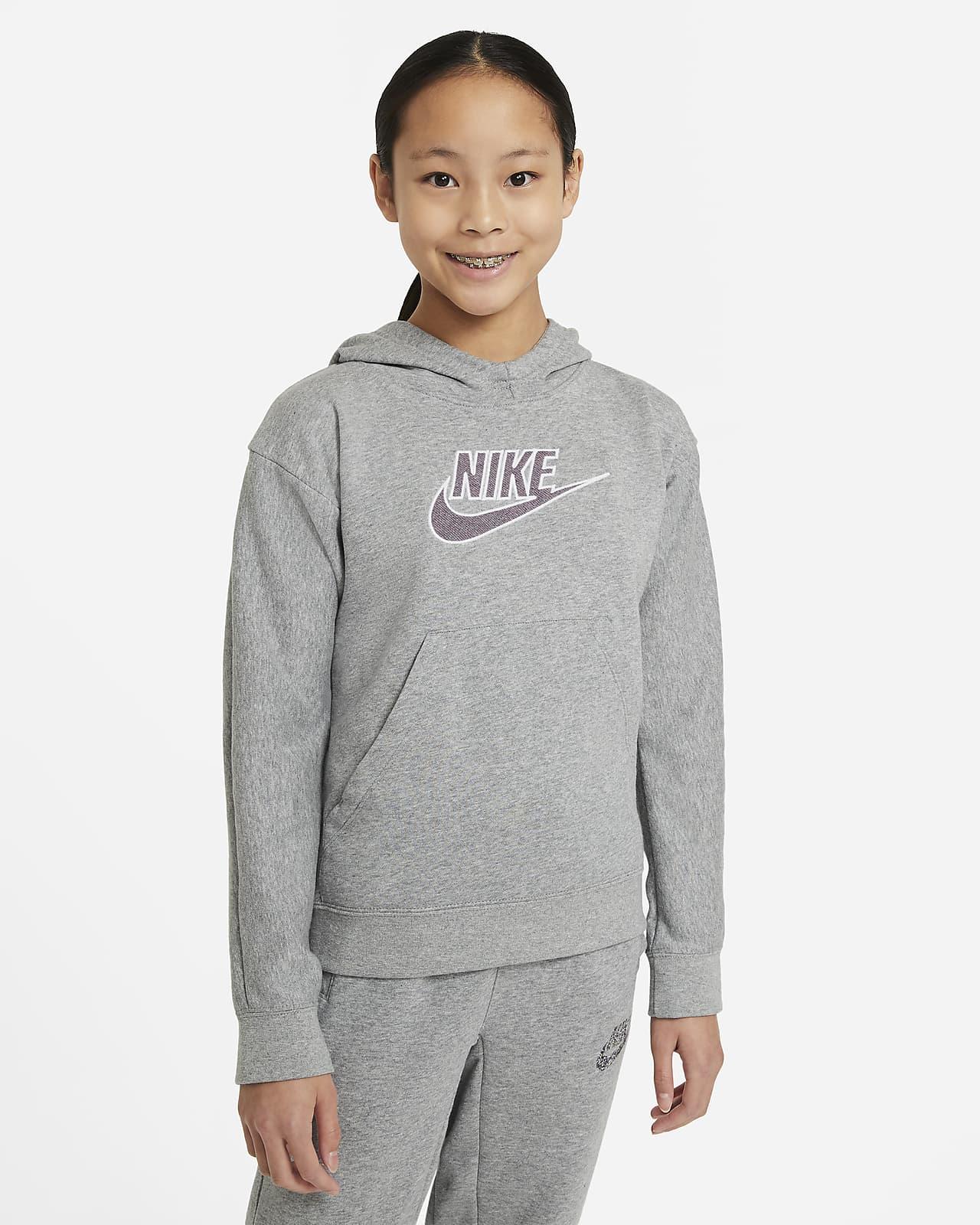 Sudadera con capucha sin cierre para niños talla grande Nike Sportswear