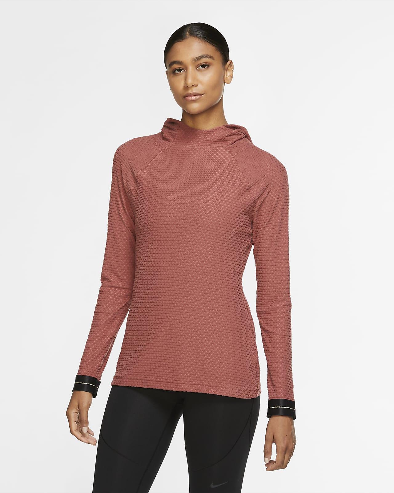 Женская футболка с длинным рукавом и капюшоном Nike Pro Icon Clash