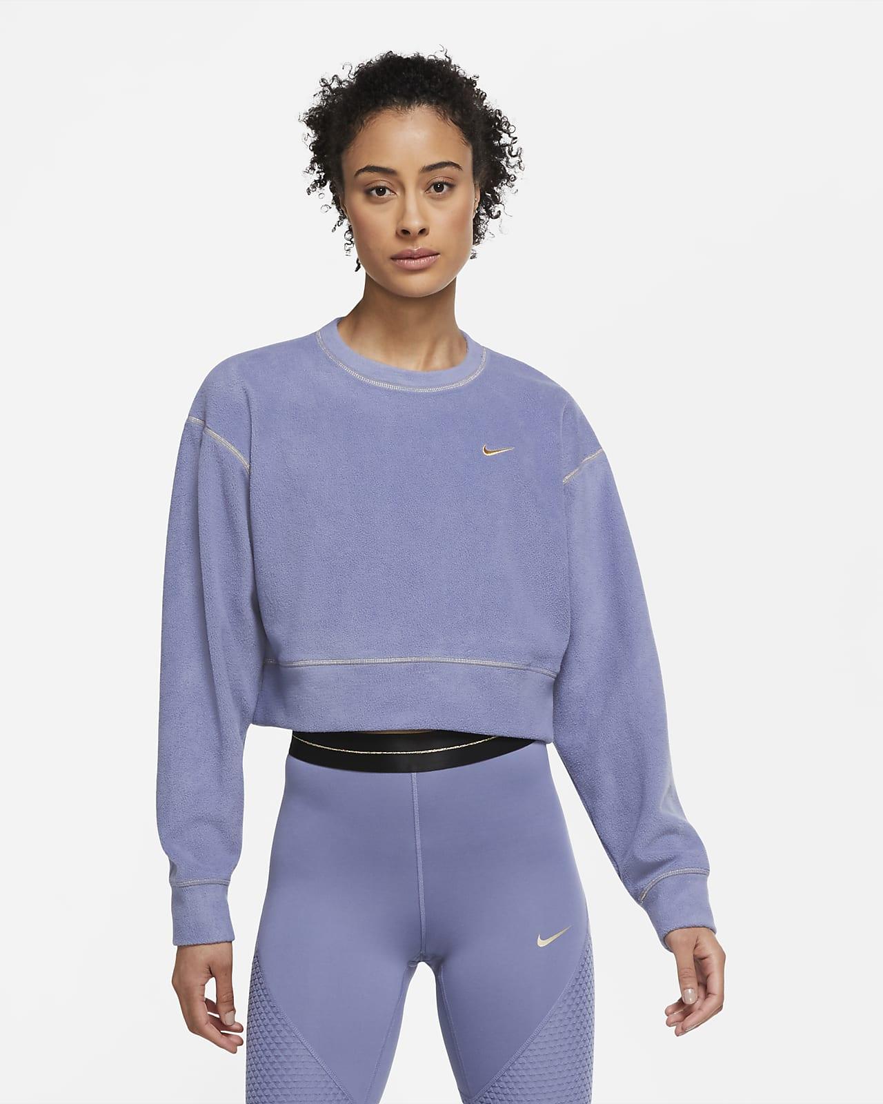 Haut de training à manches longues en tissu Fleece Nike Therma Icon Clash pour Femme