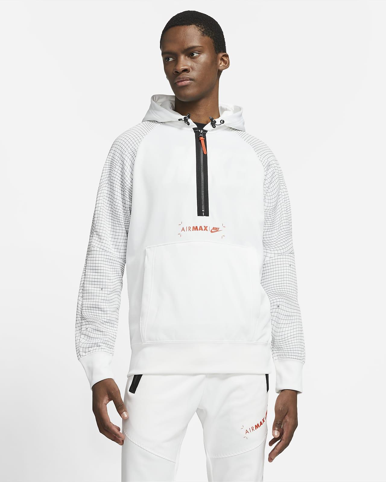 Pánská flísová mikina Nike Sportswear Air Max skapucí apolovičním zipem