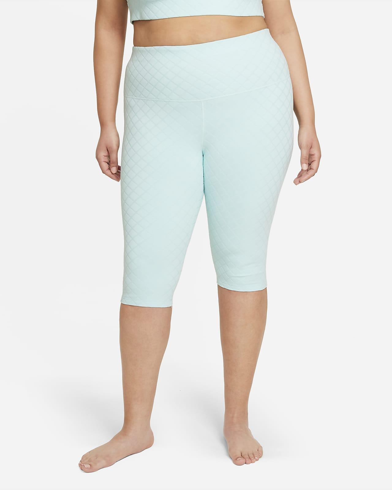 Leggings Capri de cintura alta jacquard talla grande para mujer Nike Yoga Luxe