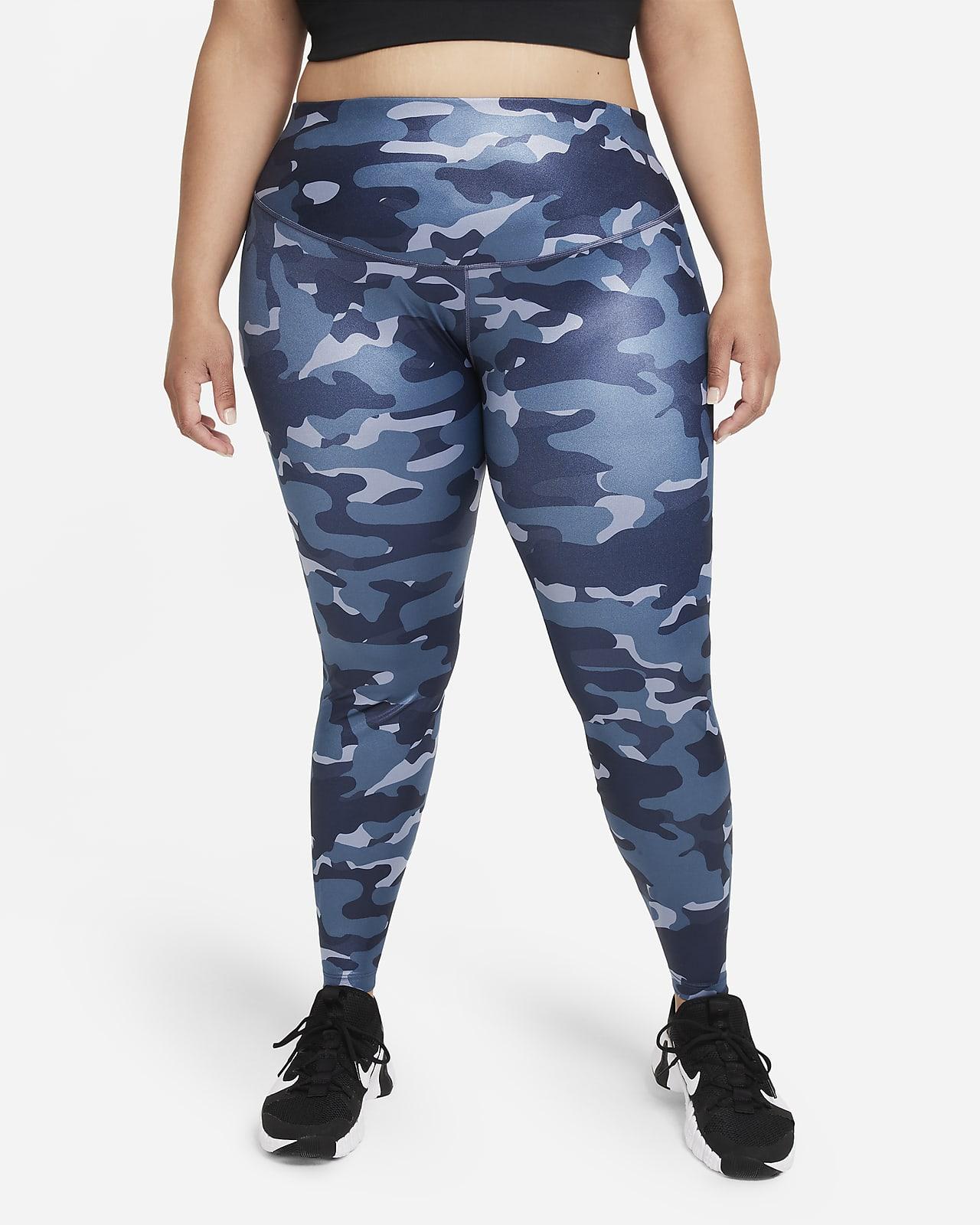 Nike Dri-FIT One Women's Mid-Rise Camo Leggings (Plus Size)